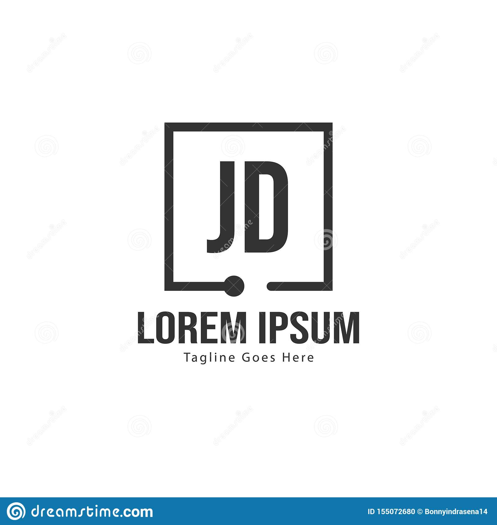 initial jd logo template with modern frame minimalist jd letter logo vector illustration stock vector illustration of branding graphic 155072680 dreamstime com