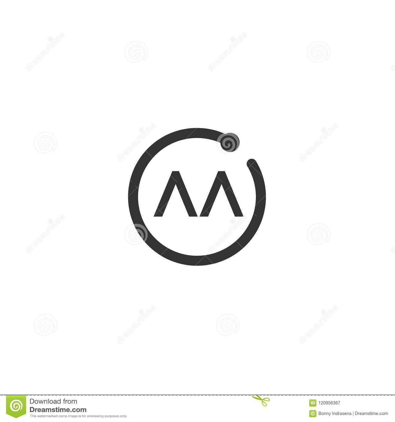 Initial Letter Aa Logo Template Vector Design Stock Vector