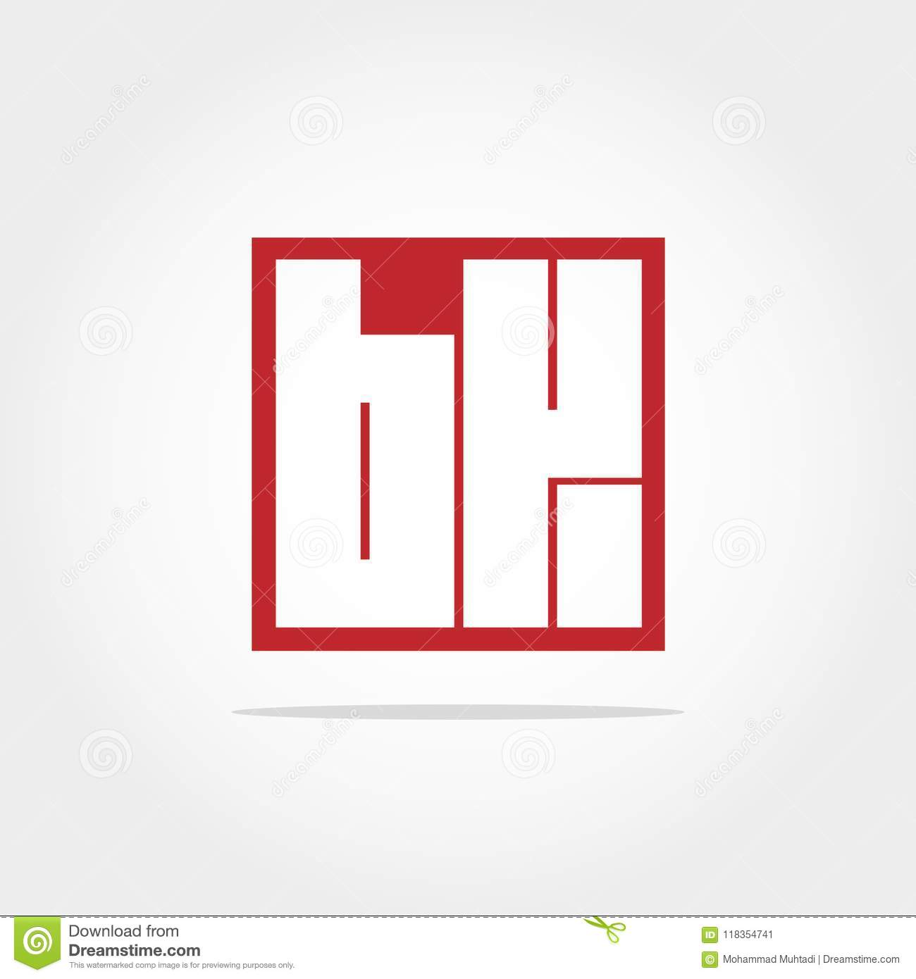 Initial Letter Bk Logo Template Vector Design Stock Vector