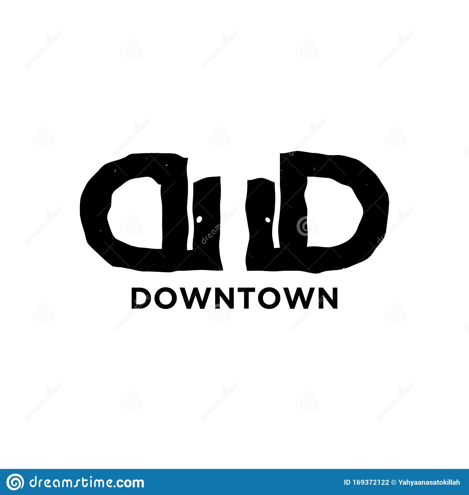Initial Letter D Twin Down And Town Modern Logo Ideas