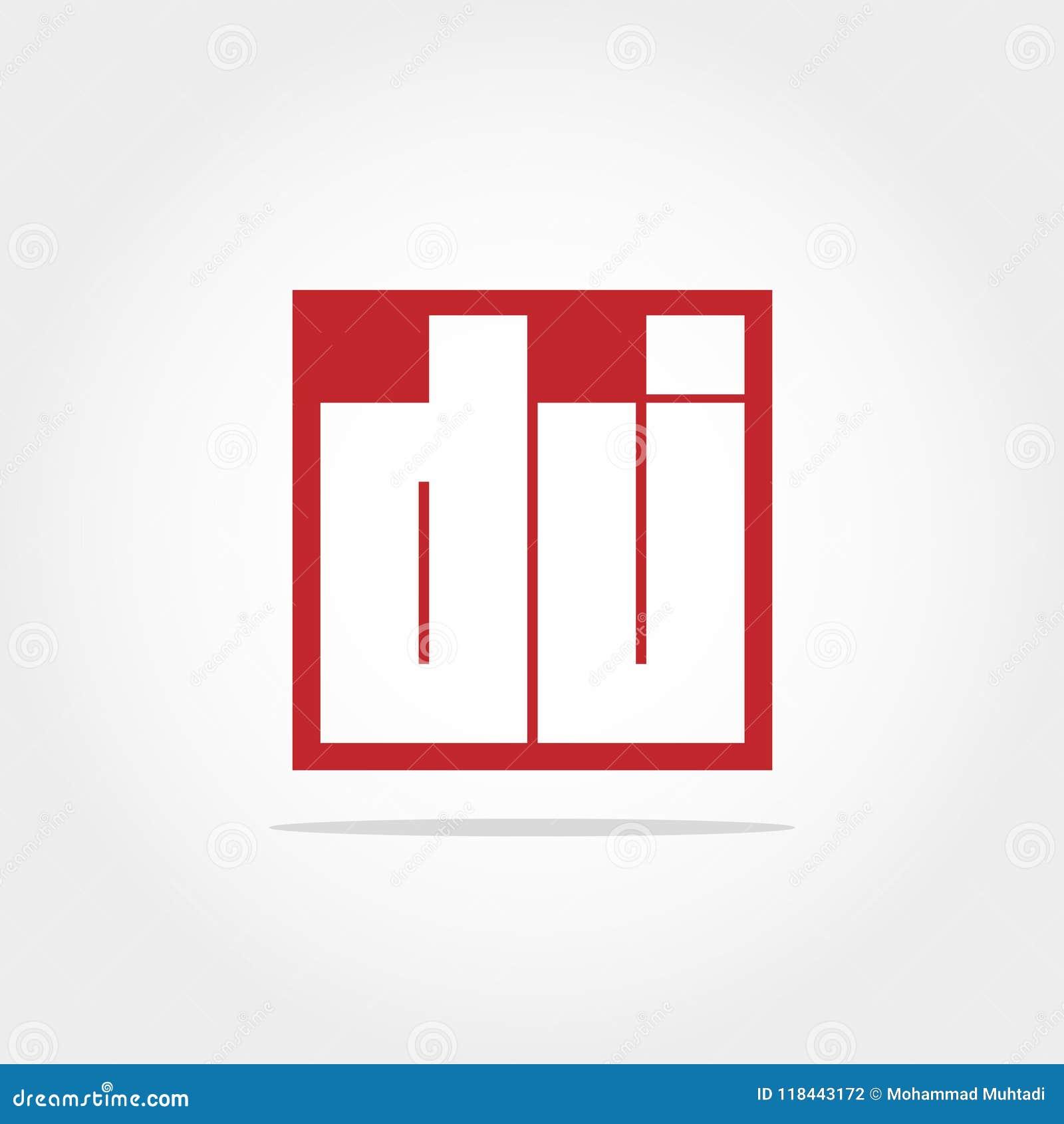 Initial Letter DJ Logo Template Vector Design Stock Vector ...