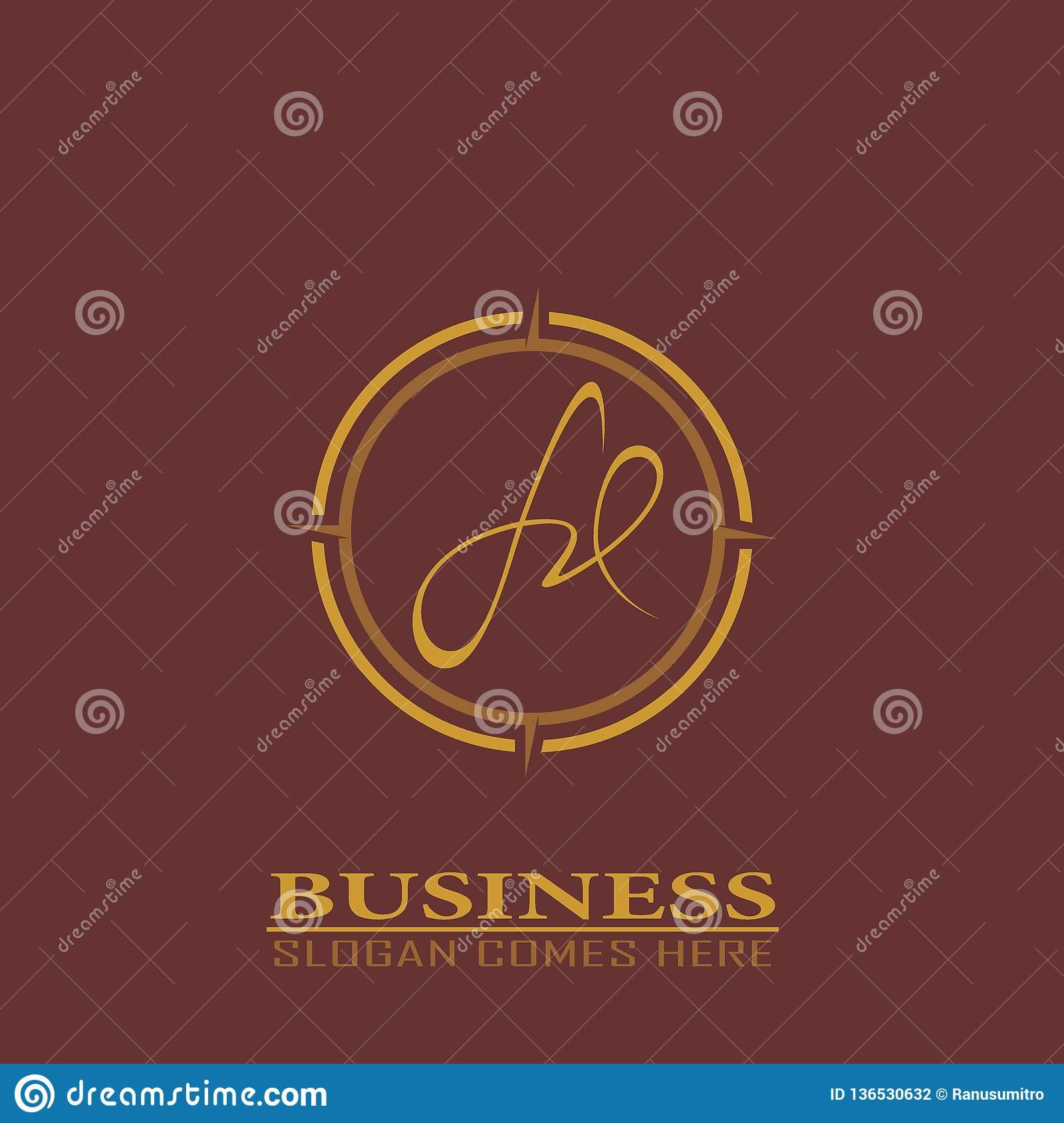 Initial Letter Fd Logo Template. Stock Vector