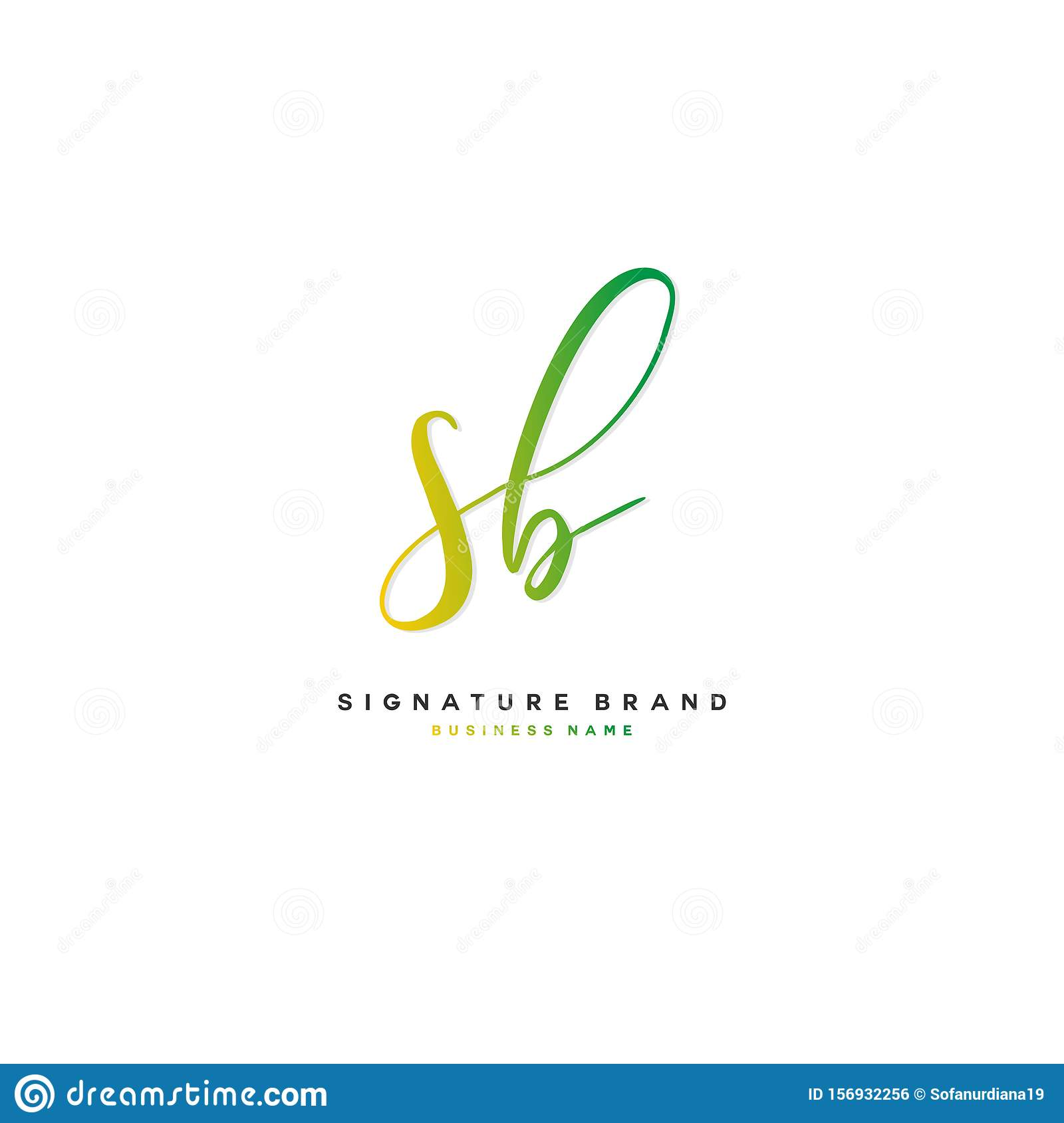 Sb Initial Letter Handwriting And Signature Logo Concept Design Stock Vector Illustration Of Icon Illustration 156932256