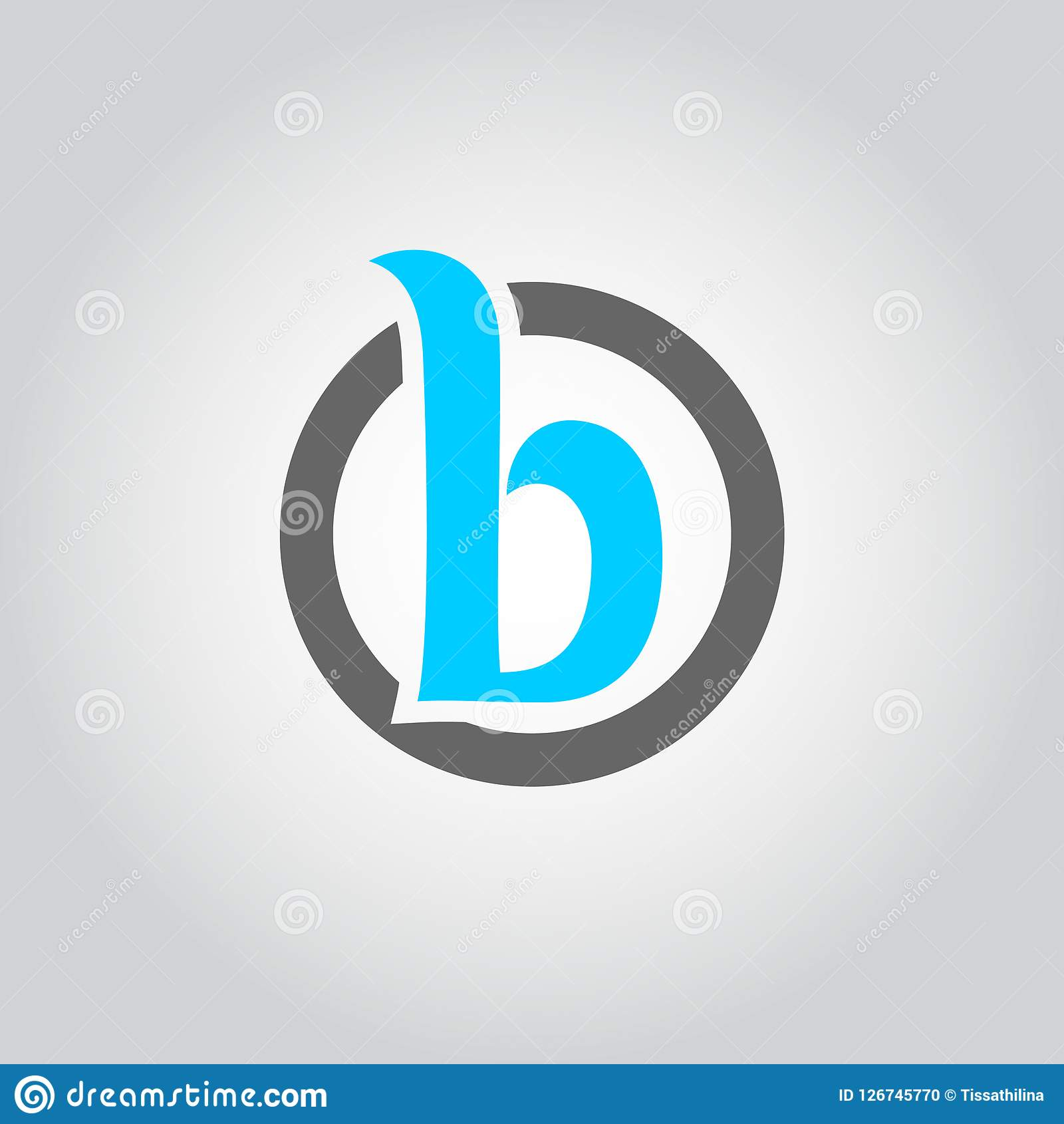 Abstract Letter Inside Circle Logo