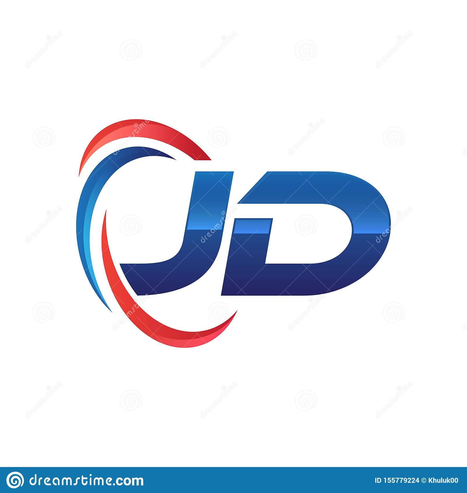initial letter jd logo swoosh red and blue stock vector illustration of protect color 155779224 https www dreamstime com initial letter logo swoosh red blue ad to zd image155779224
