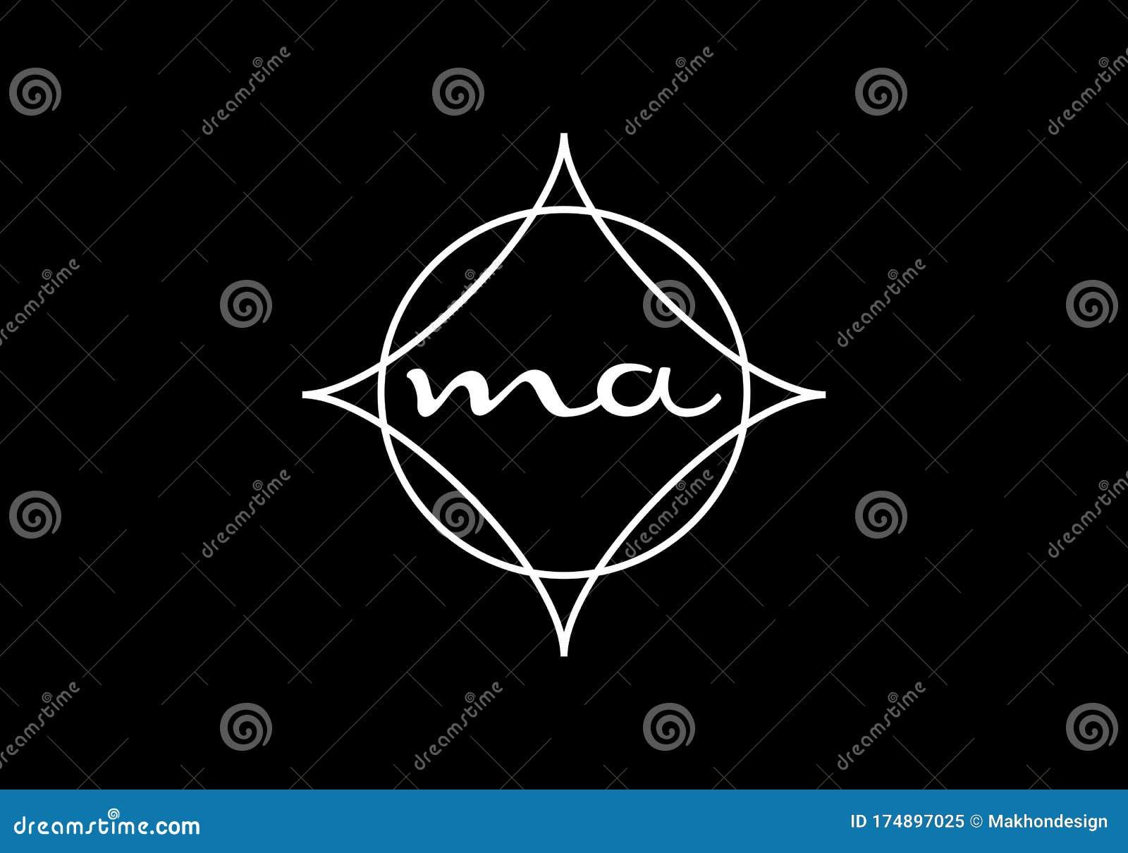 Initial Letter M A Logo Design Vector Template Monogram Logo Sign Stock Vector Illustration Of Business Branding 174897025