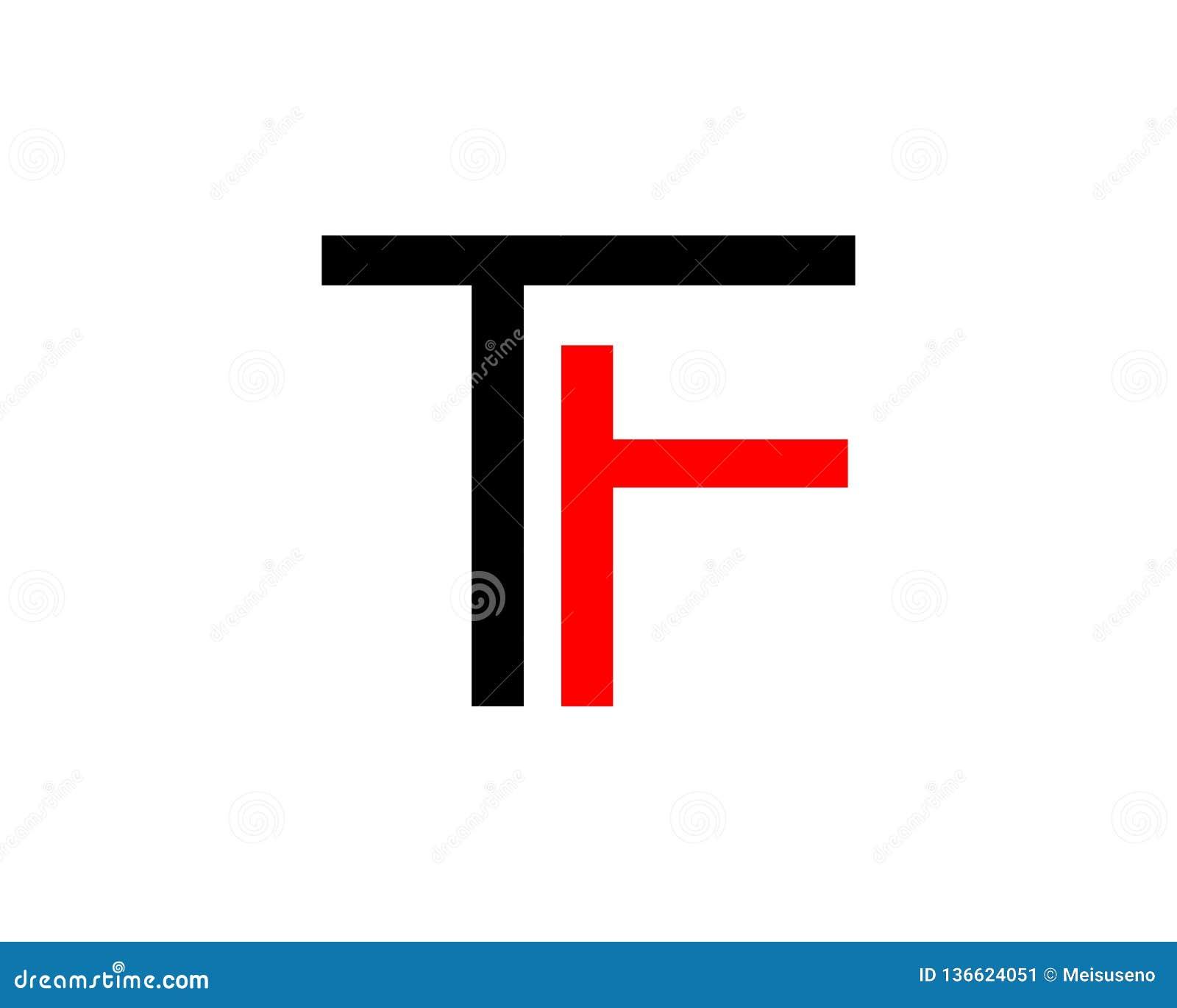 Initial Letter TF Design Logo Stock Illustration