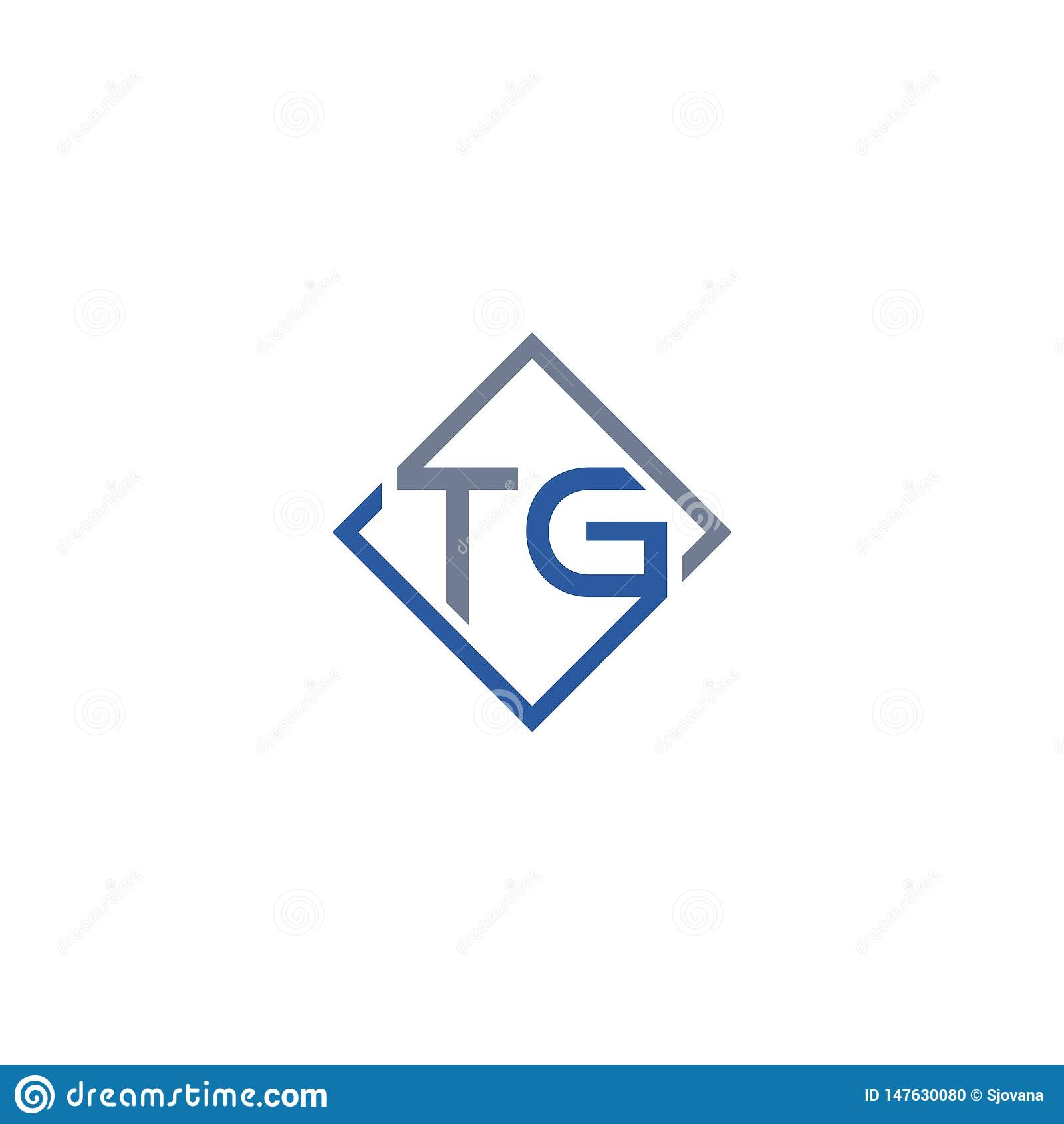 Initial Letter Tg Design Logo Stock Vector Illustration Of