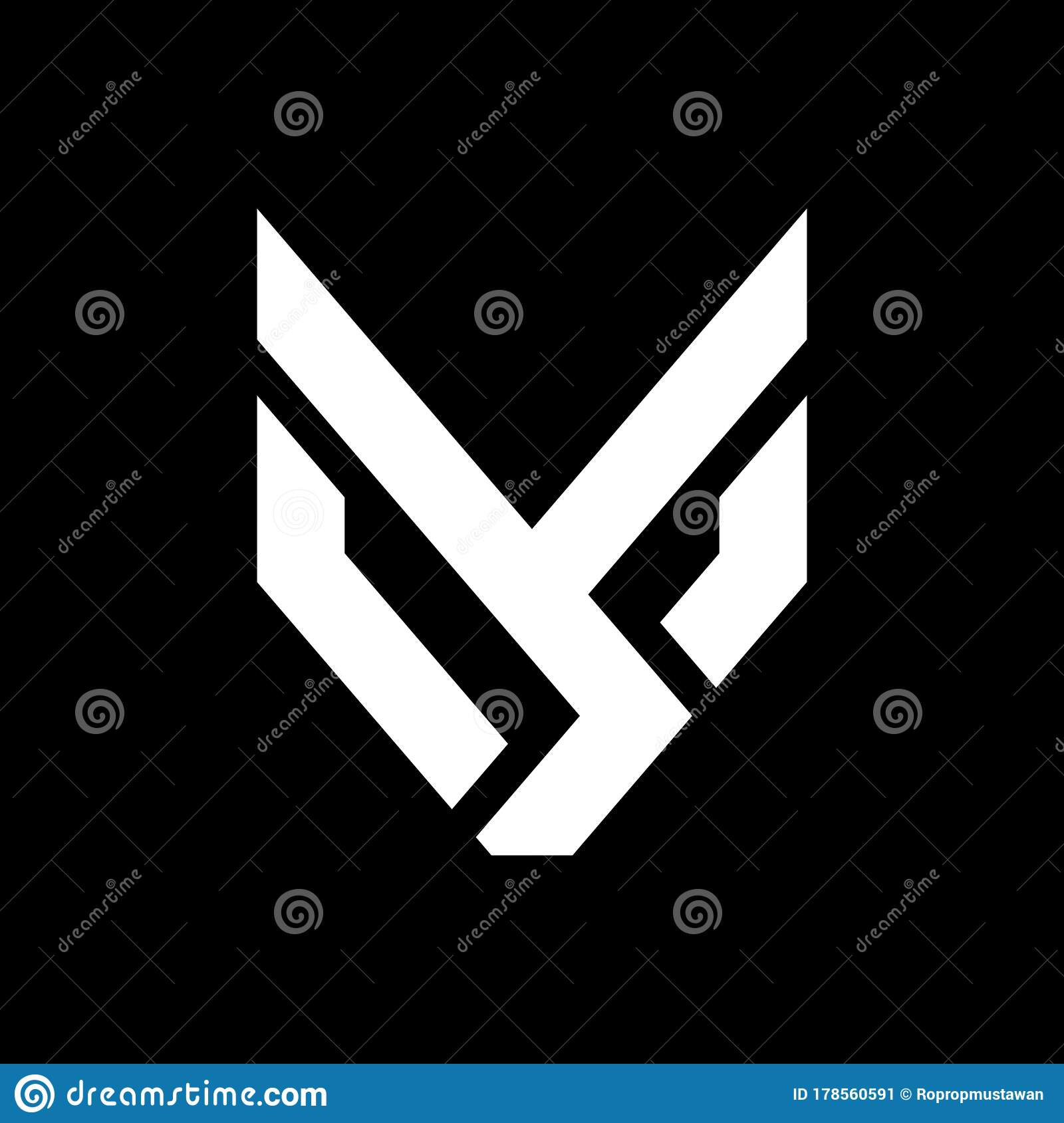 Initial Letter YS Or SY Logo Template With Modern Fox Head