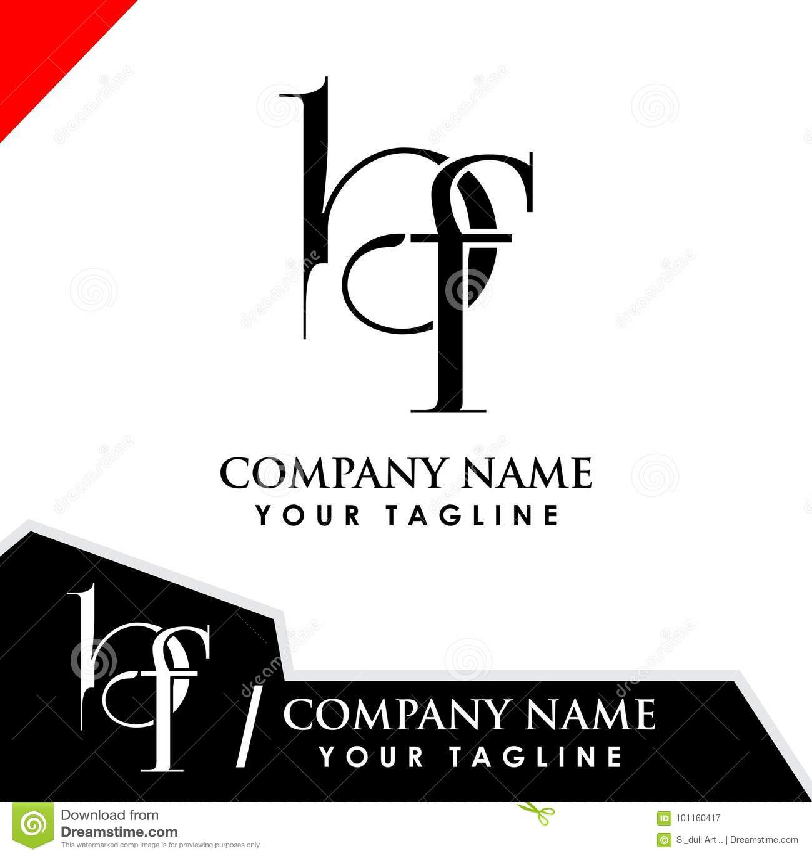 Initial Logo Design Bf Stock Vector. Illustration Of