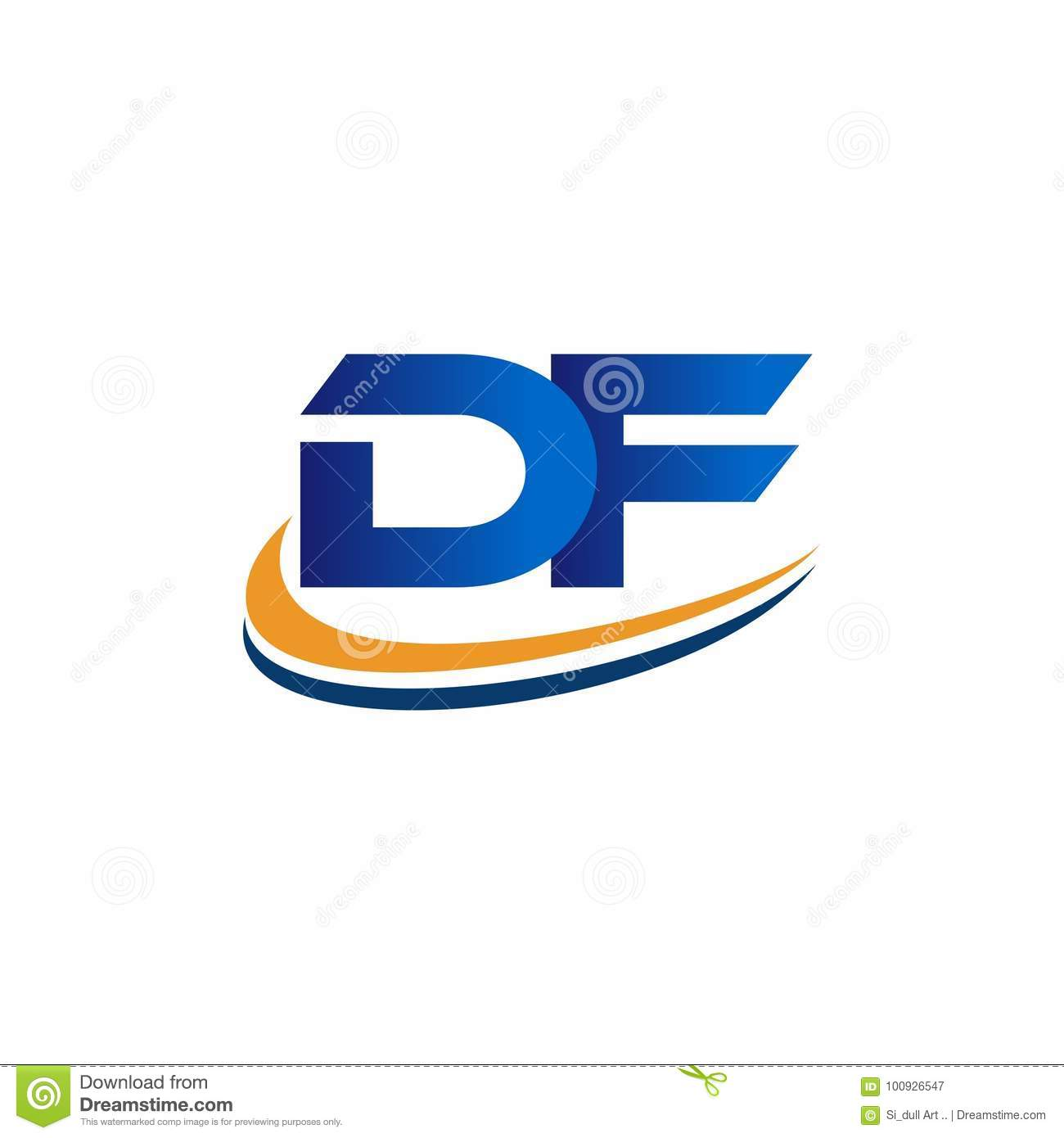 Initial Logo Design Df Stock Vector. Illustration Of