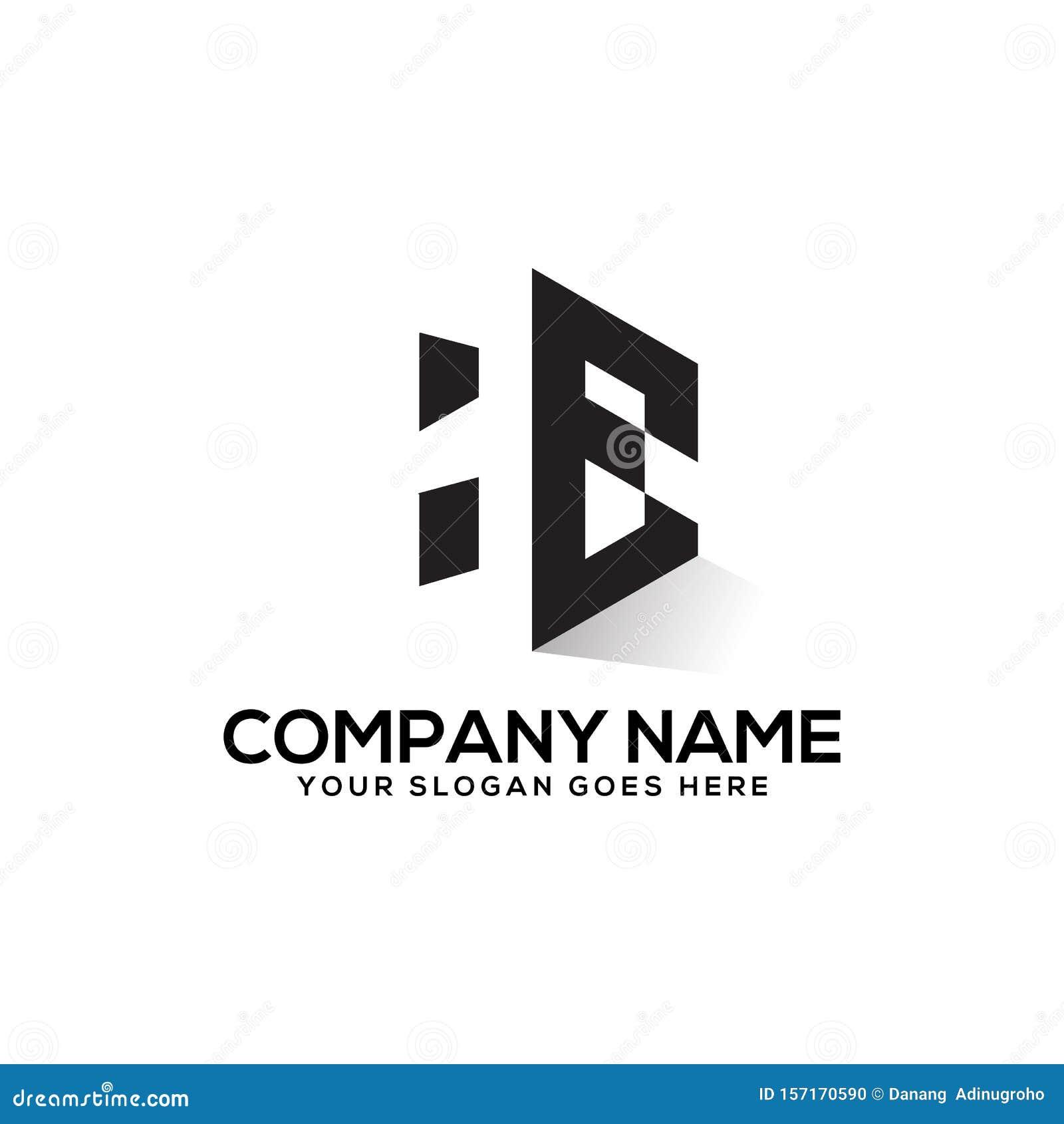 He Initial Logo Inspiration H And E Creative Logo Vector Negative
