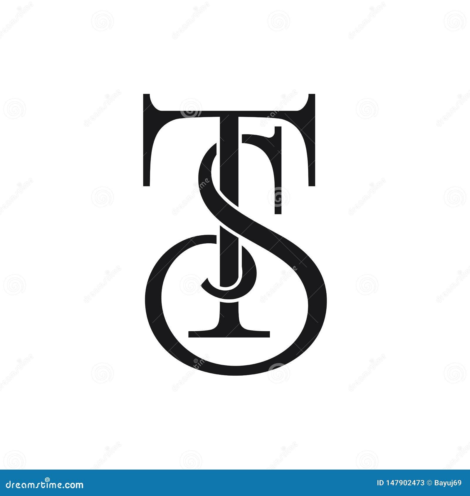 Initial ST Letter Logo Ideas Design Vector Illustration ...