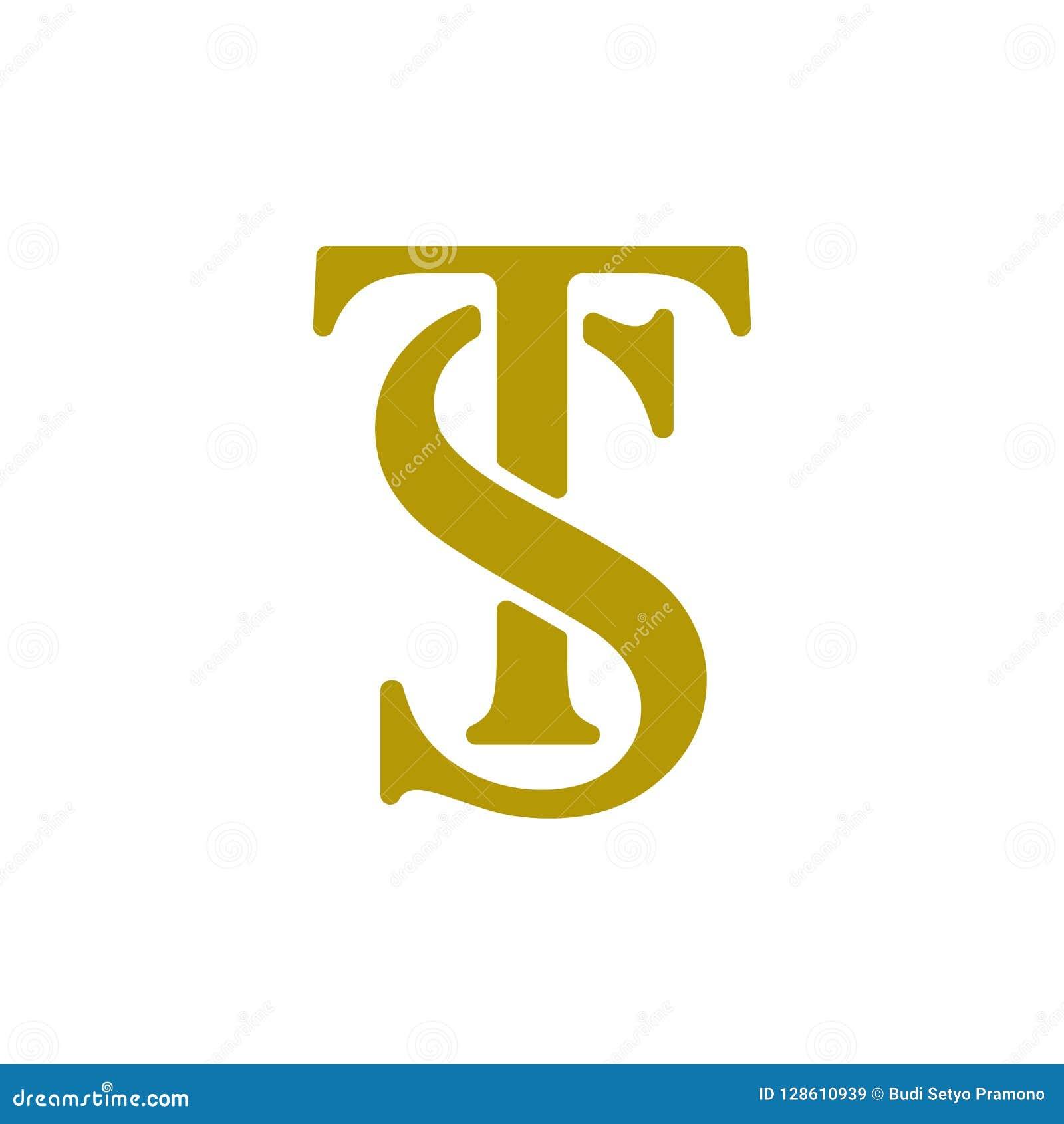 Set Of Initial St Logo Design Vector Template Stock