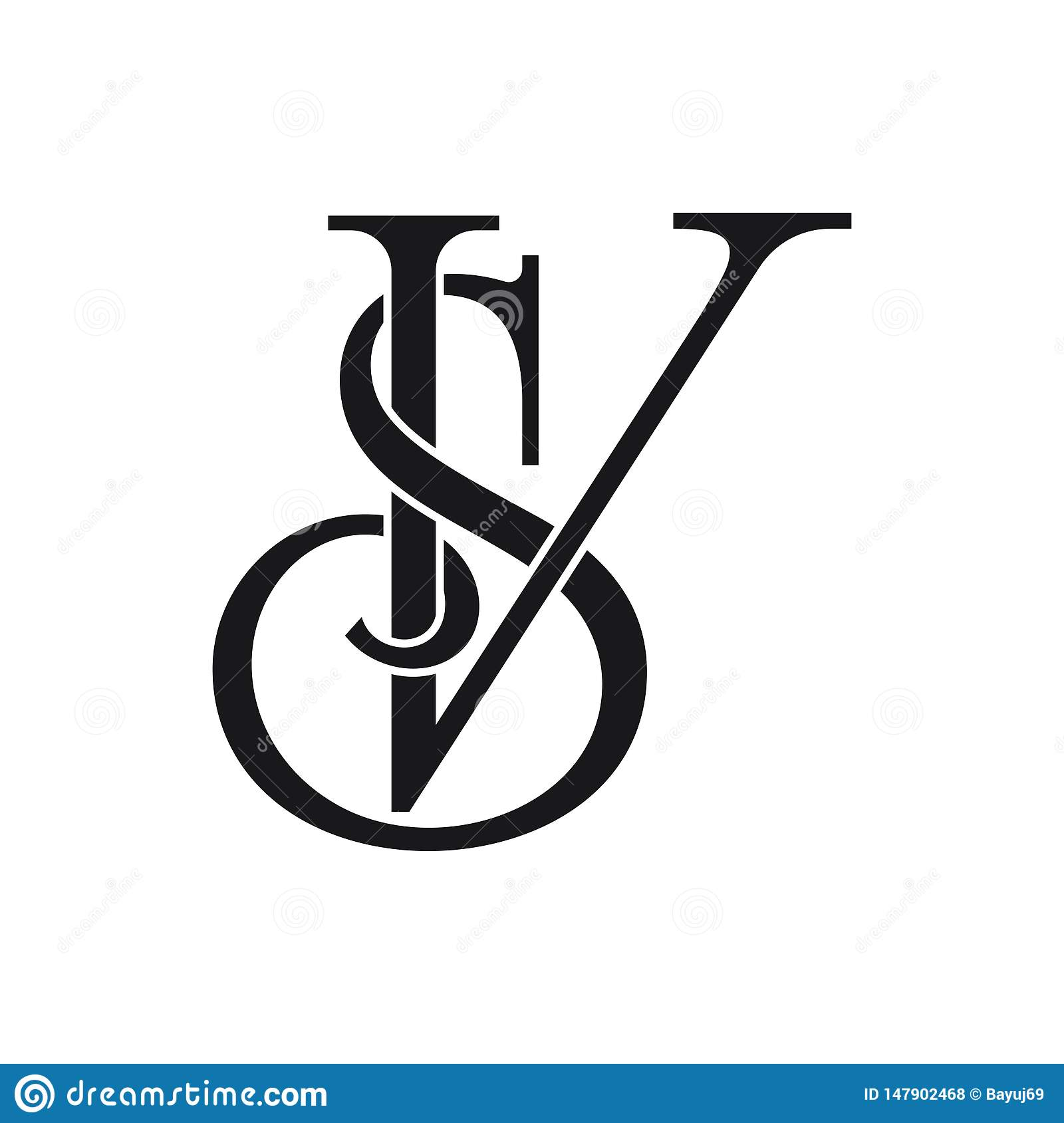 Initial SV Letter Logo Ideas Design Vector Illustration