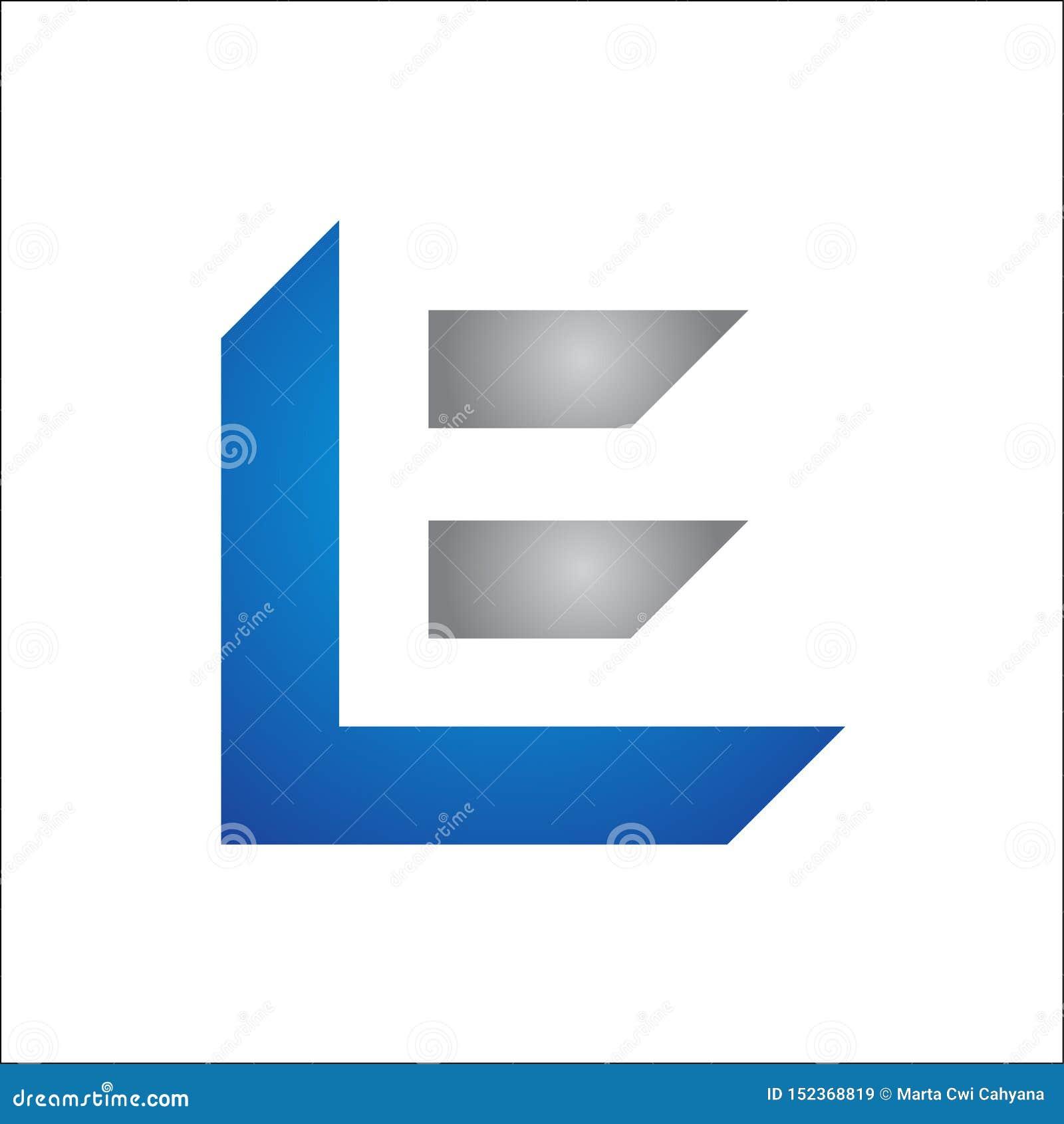 INITIALEN LE-EMBLEEM VECTORmalplaatje
