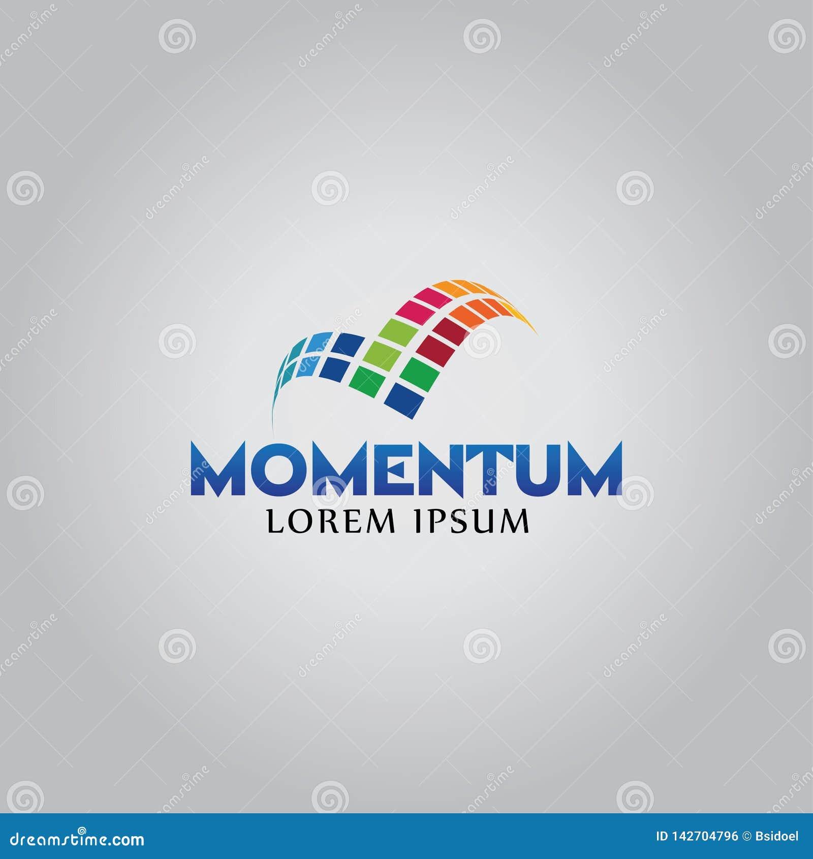 Initialt tema och teknologi för full färg för logo M