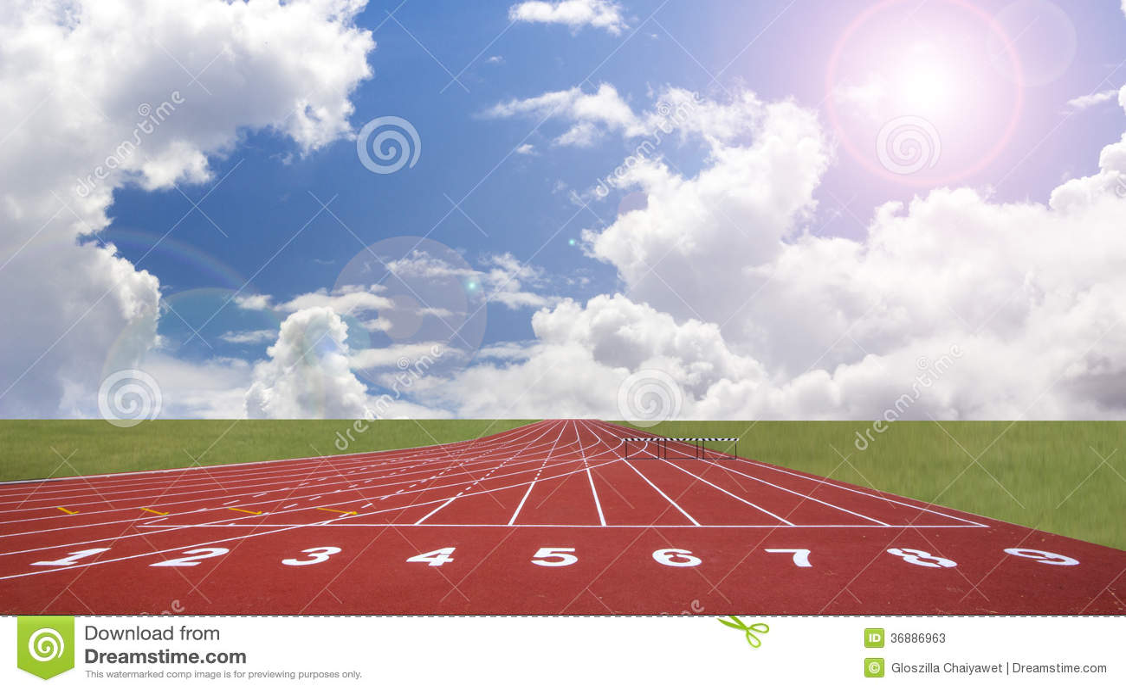 Download Inizi La Pista. Allini Su Una Pista Corrente Rossa Immagine Stock - Immagine di concorrenza, sano: 36886963