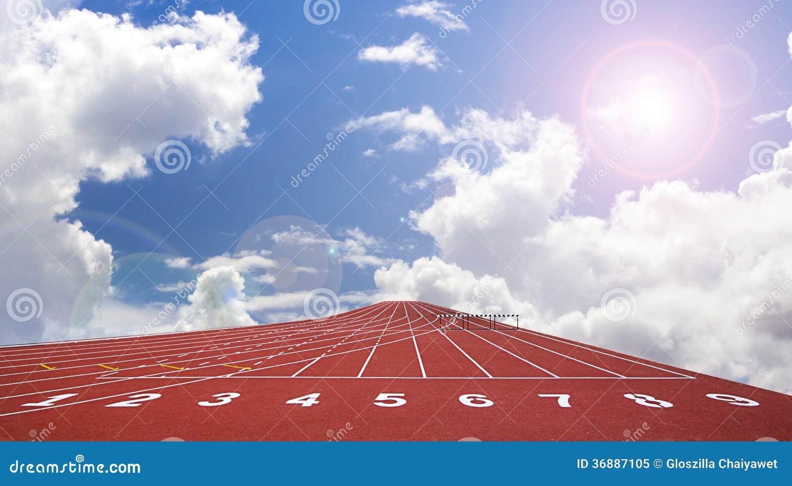 Download Inizi La Pista. Allini Su Una Pista Corrente Rossa Immagine Stock - Immagine di concorso, salute: 36887105