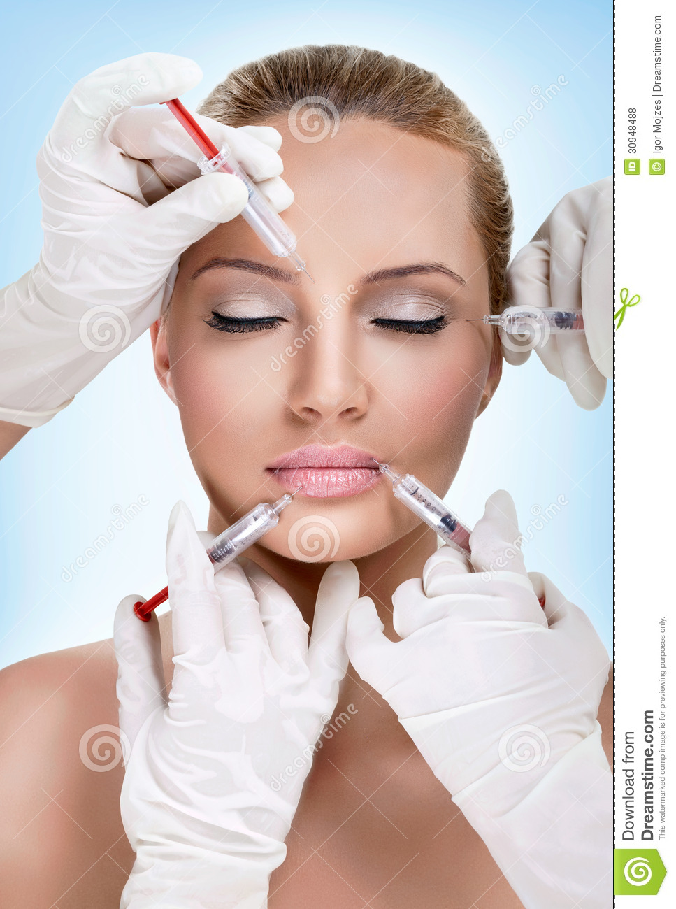 Injections Of Botox Stock Photo. Image Of Correction