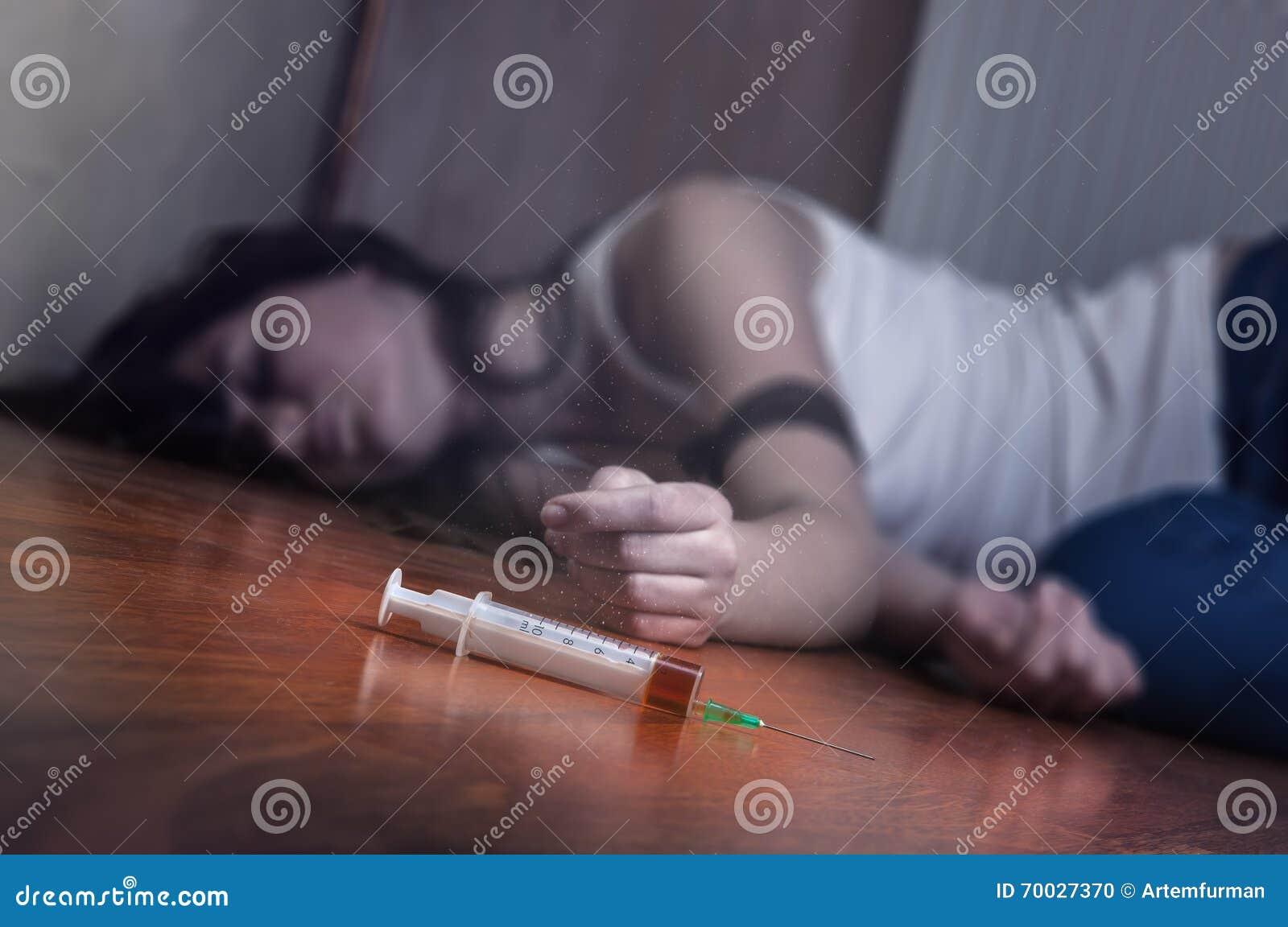 Injektionsspruta med droger