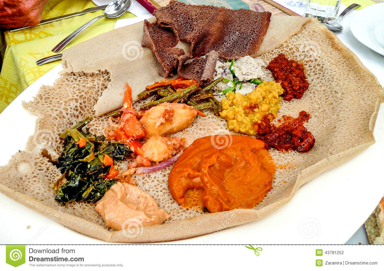 Injera stock photo image 43781252 for Authentic ethiopian cuisine