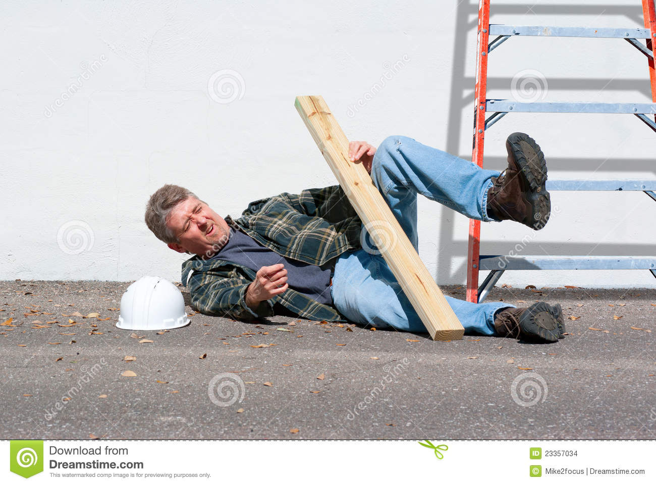 Download Injured Construction Worker Stock Photo - Image of business, adult: 23357034