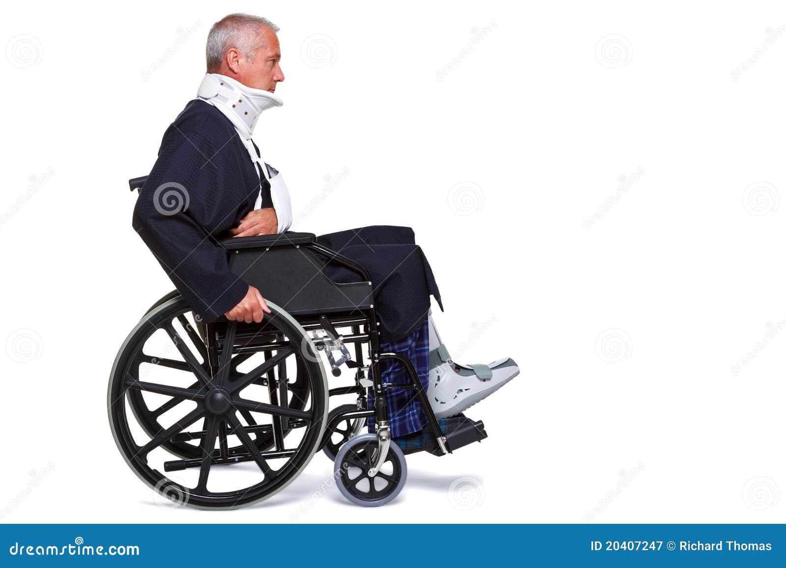injured man in wheelchair stock image image of caucasian 20407247
