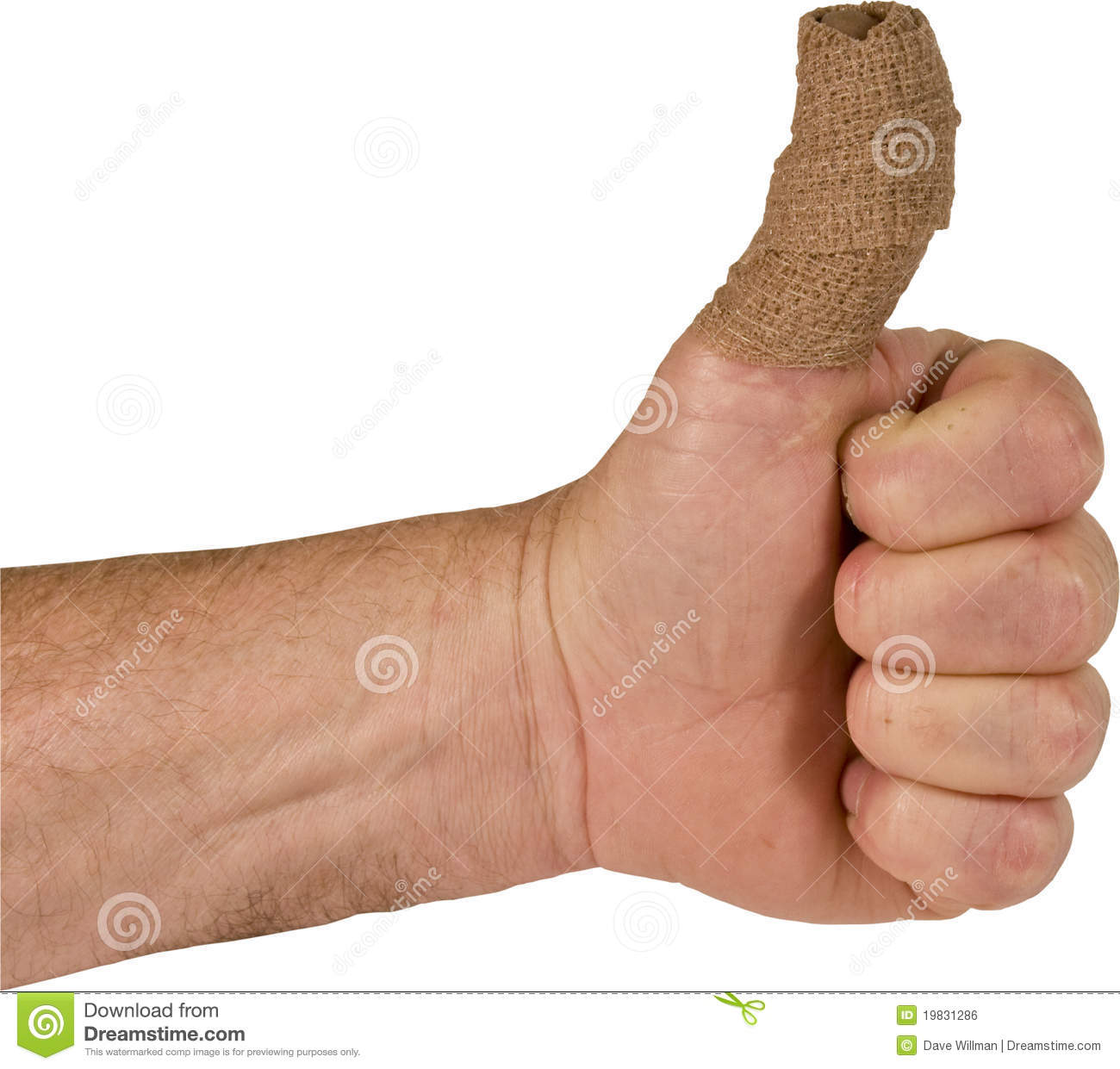 Thumb up position