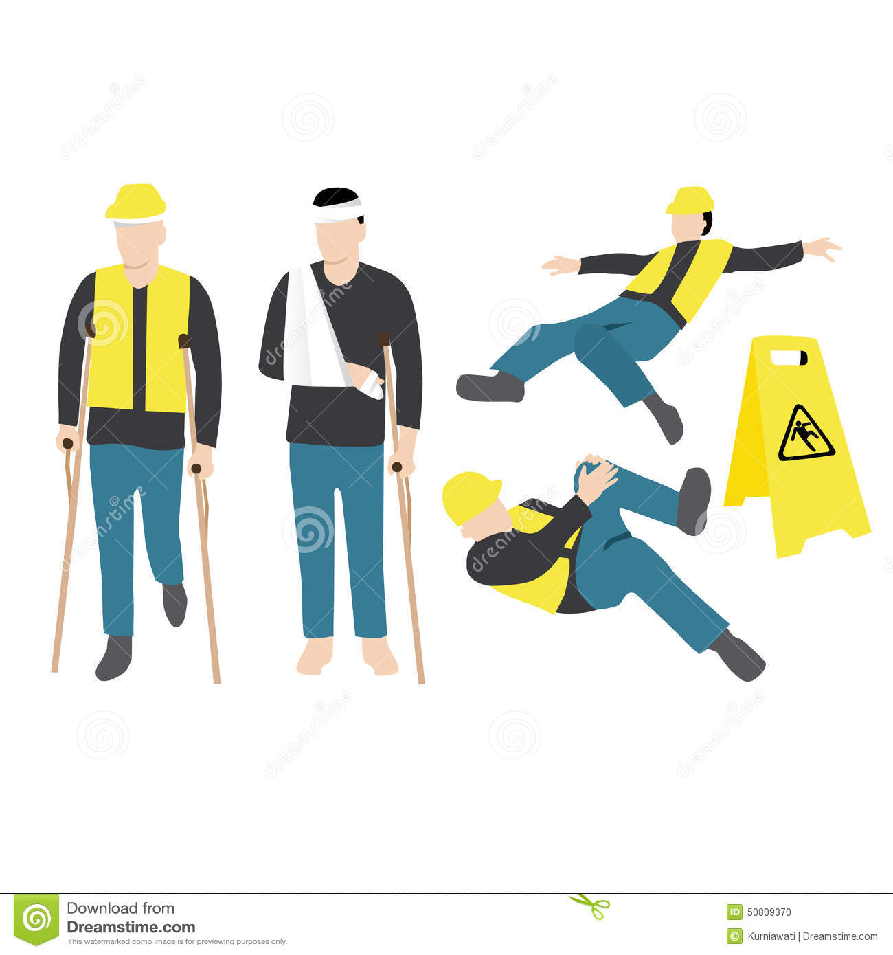 Injured Worker Clip Art