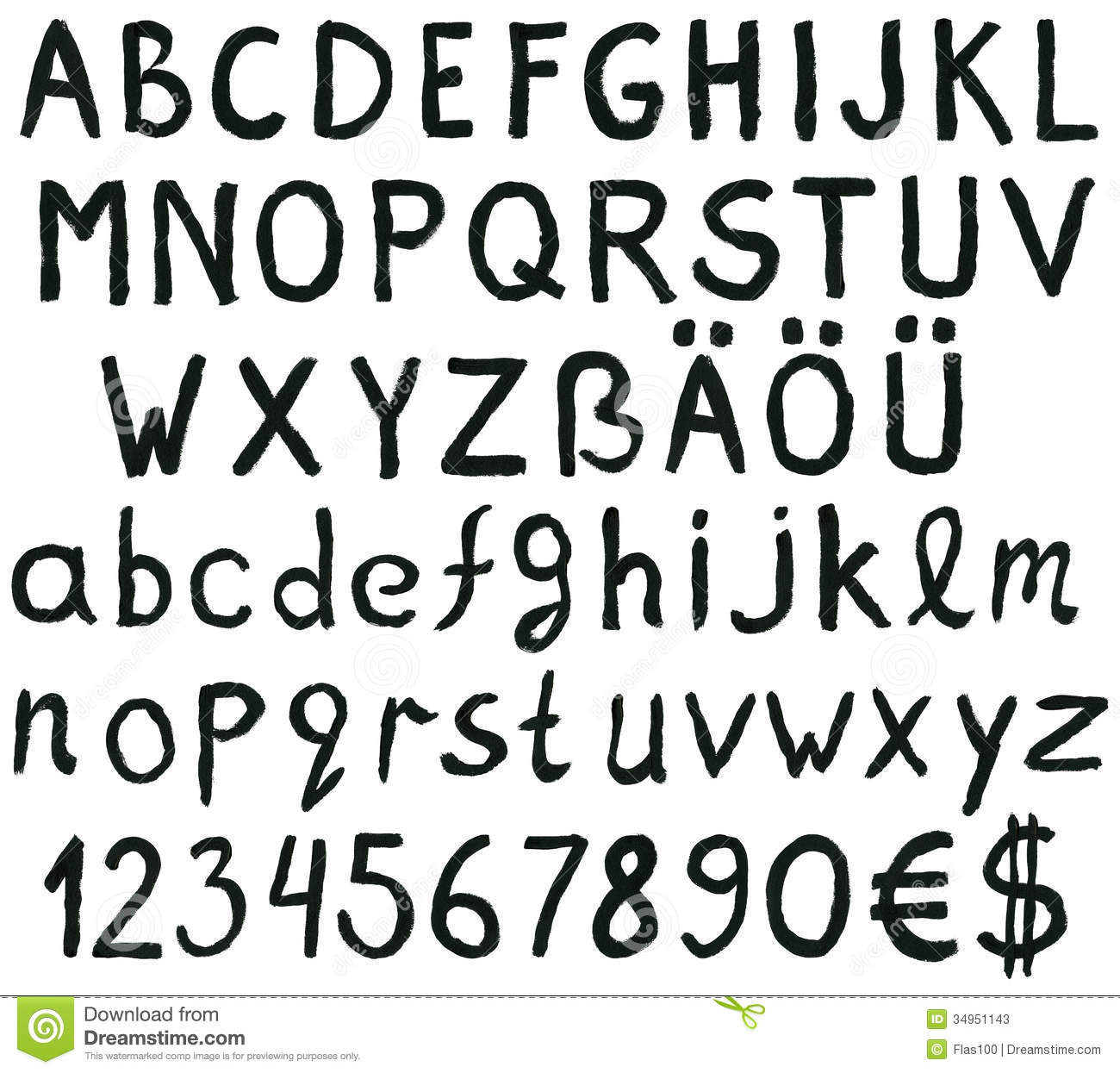 letters numbers and symbols stock photos ink alphabet letters numbers symbols image34951143