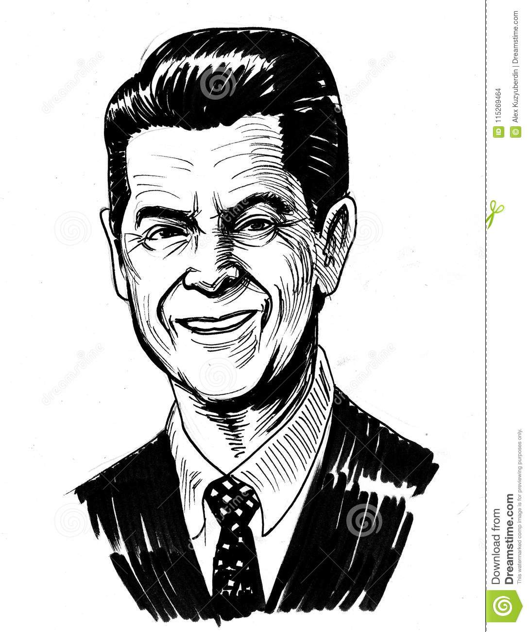 Ronald Reagan Stock Illustration Illustration Of Politician 115269464