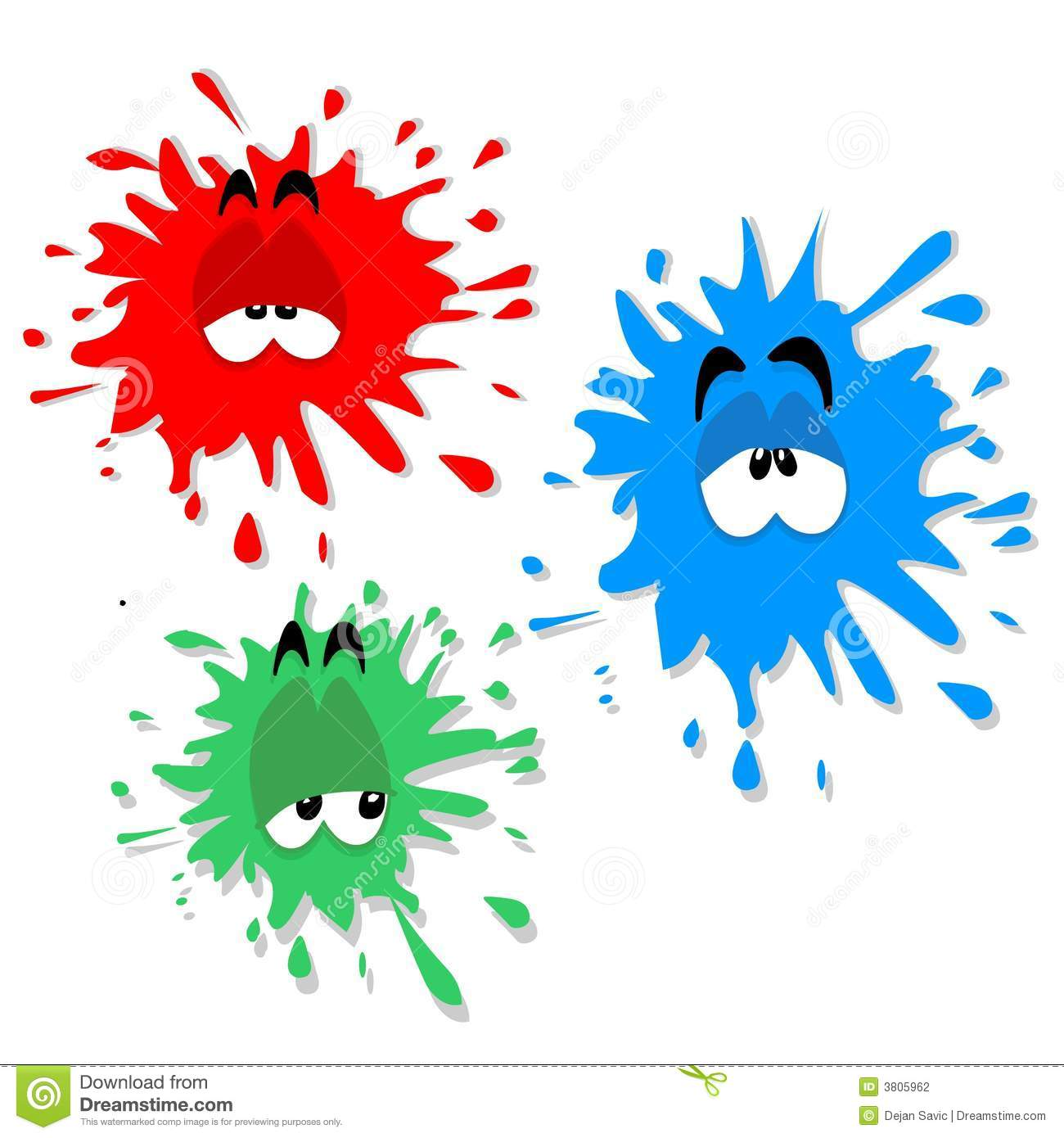 Ink blot characters