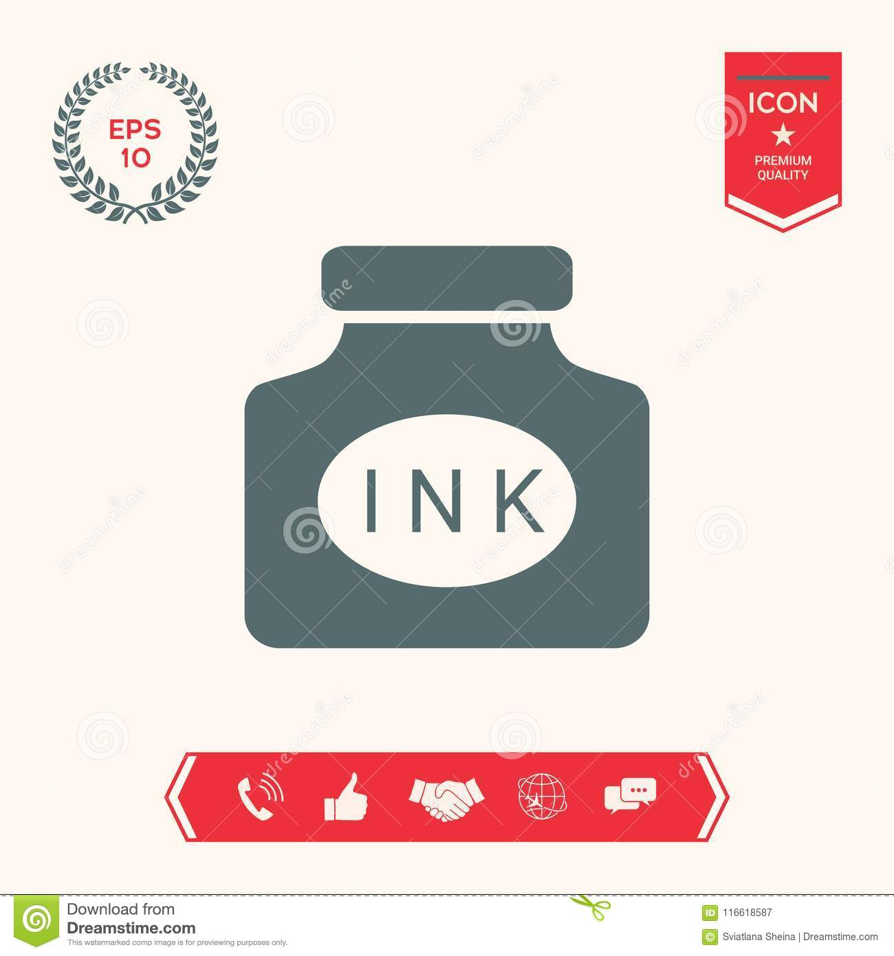 Ink Bottle Icon Stock Vector Illustration Of Antique 116618587
