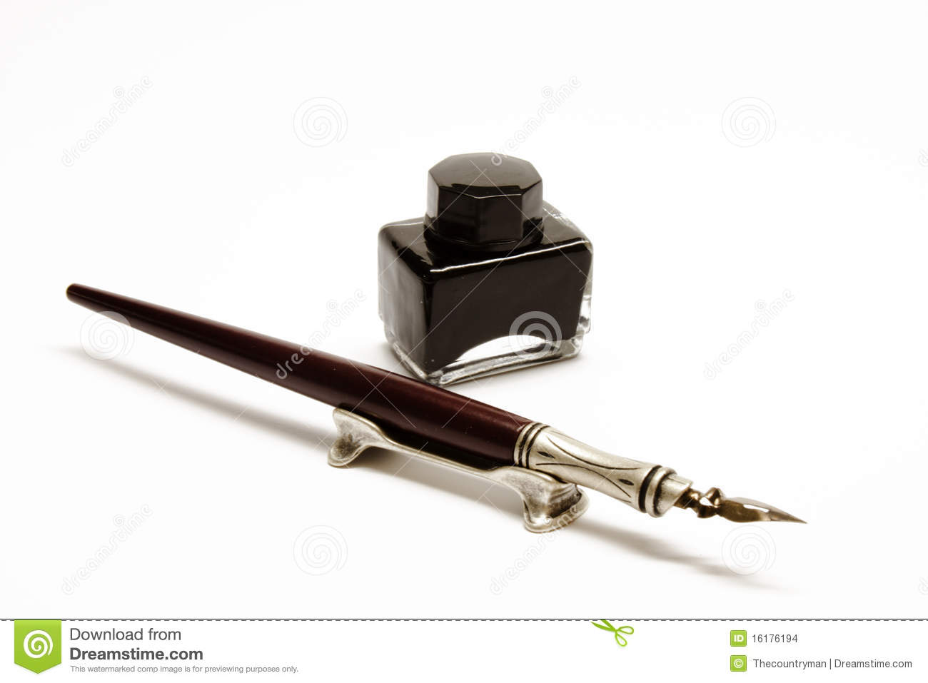 Ink And Pen Stock Images - Image: 16176194