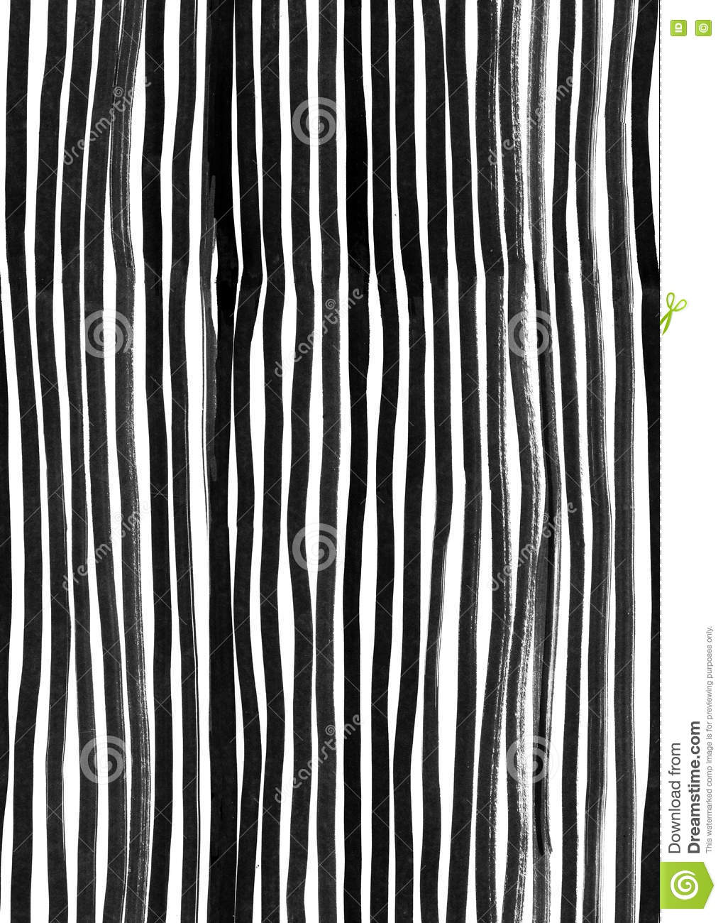 Ink Seamless Line Pattern. Abstract print with brush strokes. Monochrome hand drawn texture. Artistic tileable black and