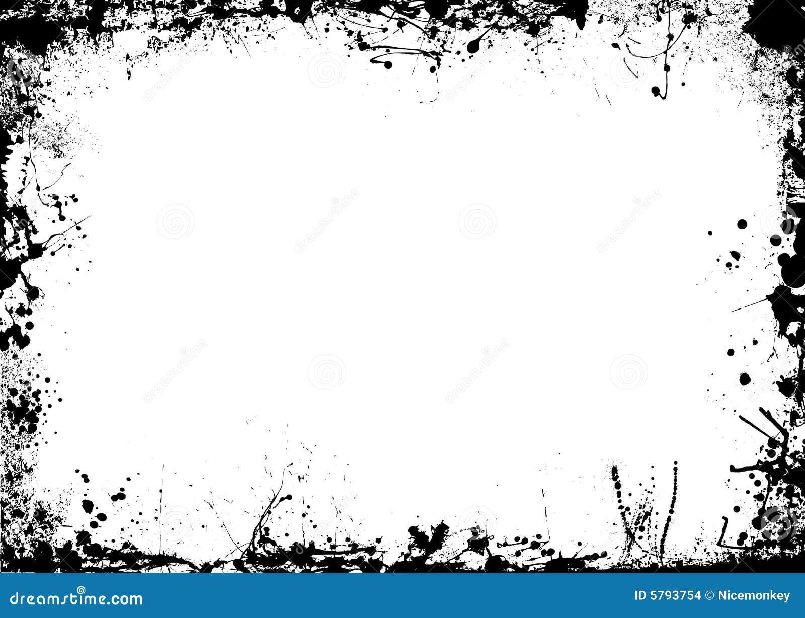 ink splat border mono stock images image 5793754