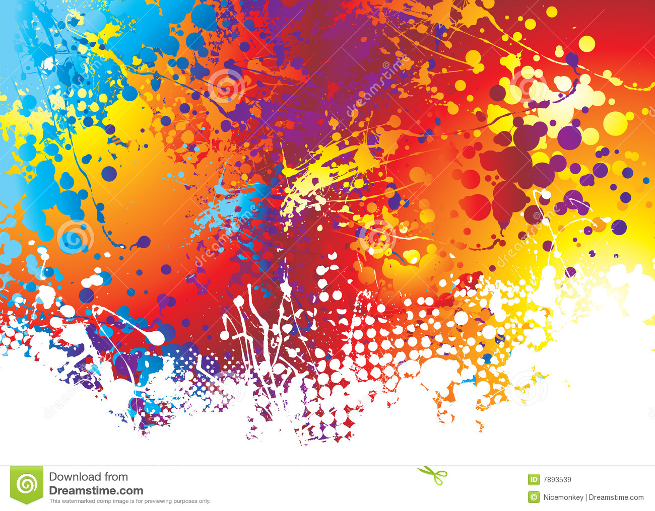 Watercolor splatter vector abstract watercolor background - Ink Splat Rainbow Bottom Royalty Free Stock Images Image