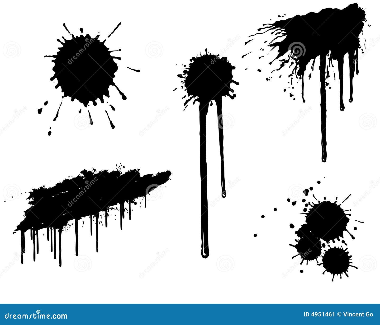 ink splatter stock vector illustration of grunge design