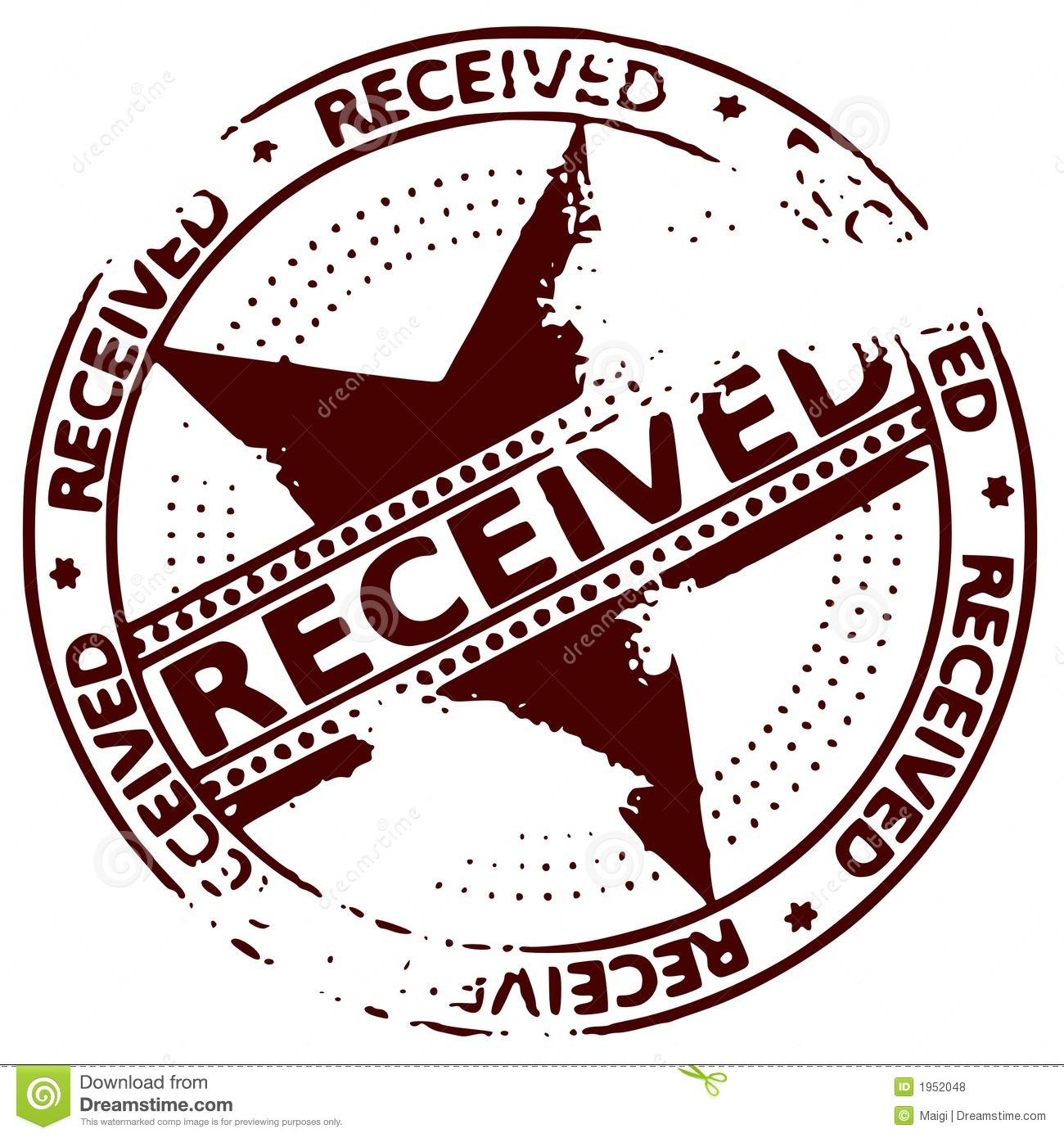 Ink Stamp Received Royalty Free Stock Photos Image 1952048