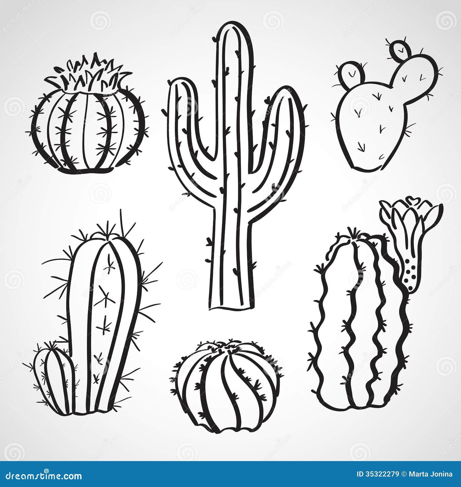 Similiar Line Drawing Of Cactus Keywords