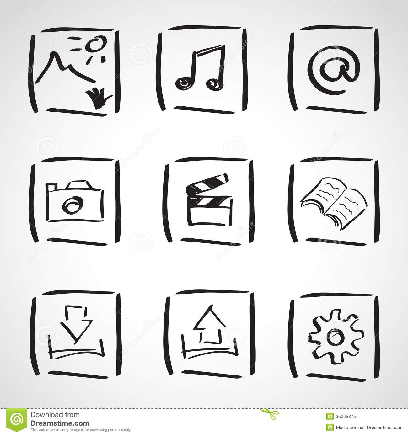 Ink Style Sketch Set Computer Icons Royalty Free Stock