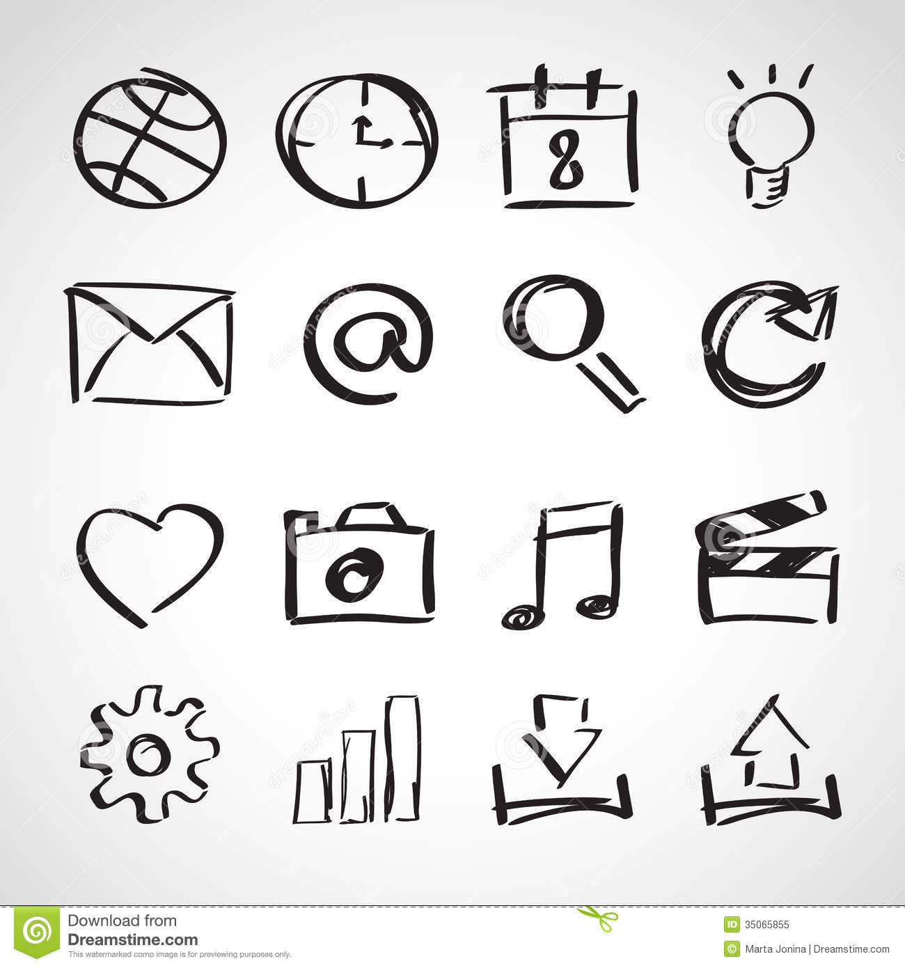 Draw House Plans App Ink Style Sketch Set Web Icons Stock Vector Image