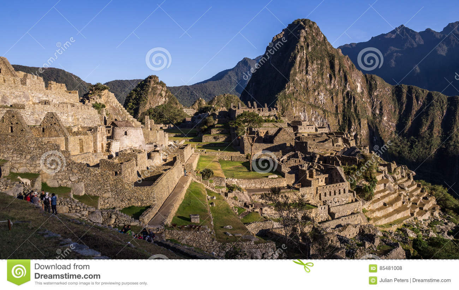 Inkastadt Machu Picchu, Peru bei Sonnenaufgang