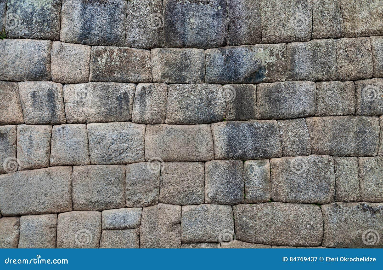 Inkawand im Dorf Machu-Picchu, Peru, Südamerika