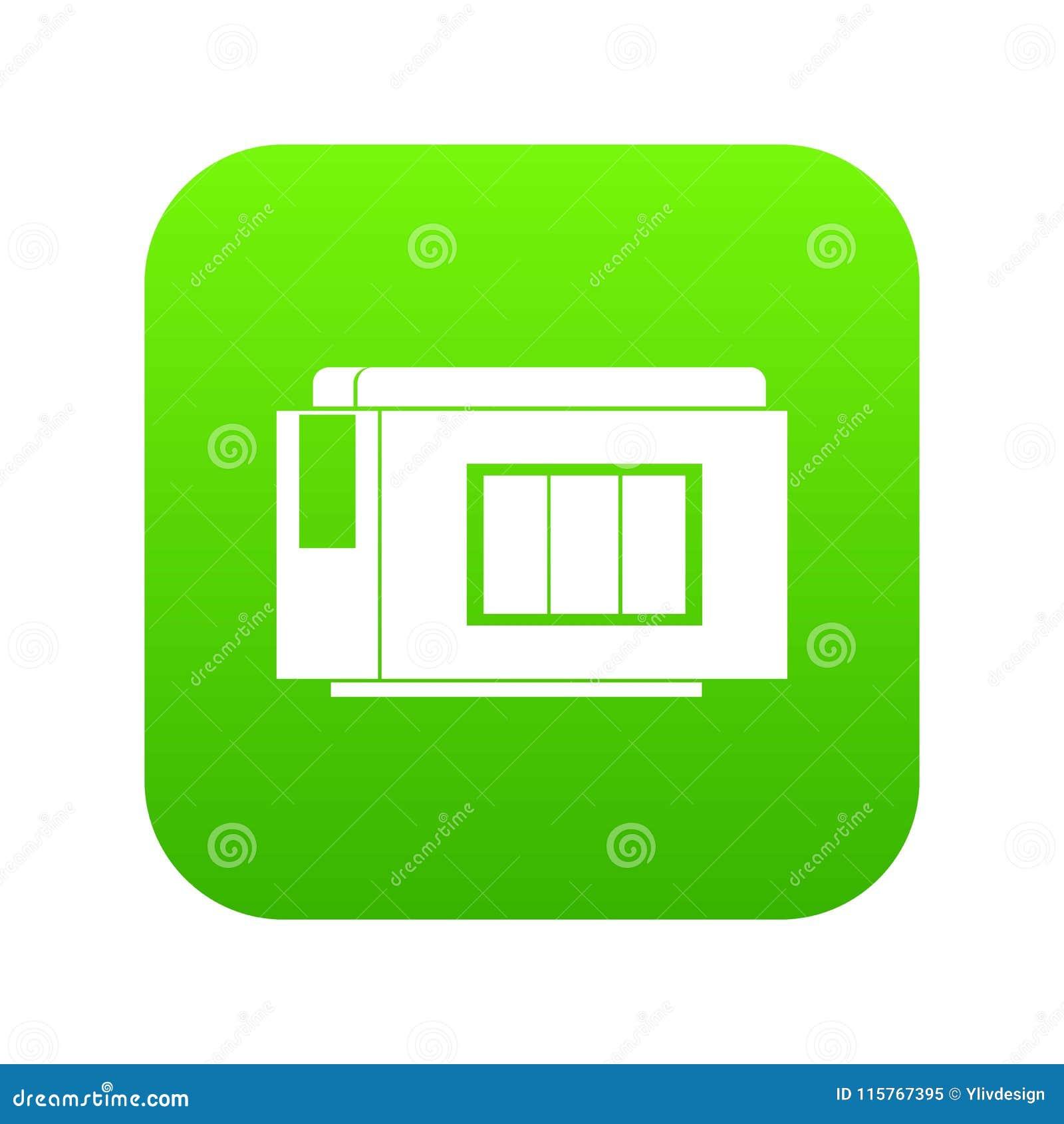 Inkjet Printer Cartridge Icon Digital Green Stock Vector Diagram Of A