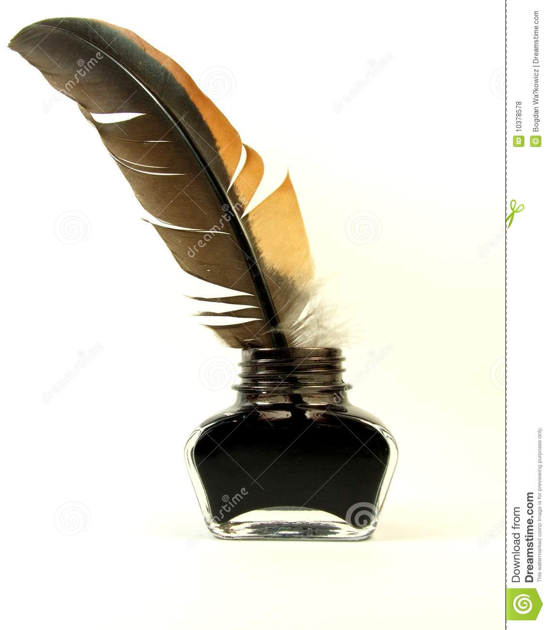 Royalty Free Stock Photos Inkwell Quill Image10378578 on Latest Parchment Writing Paper