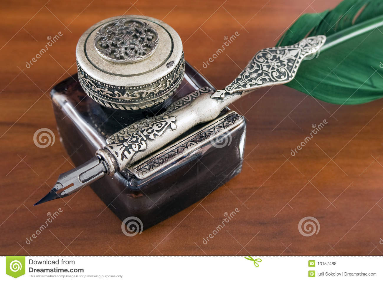 Inkwell and quill stock photo. Image of script, manuscript ...Quill And Inkwell Image