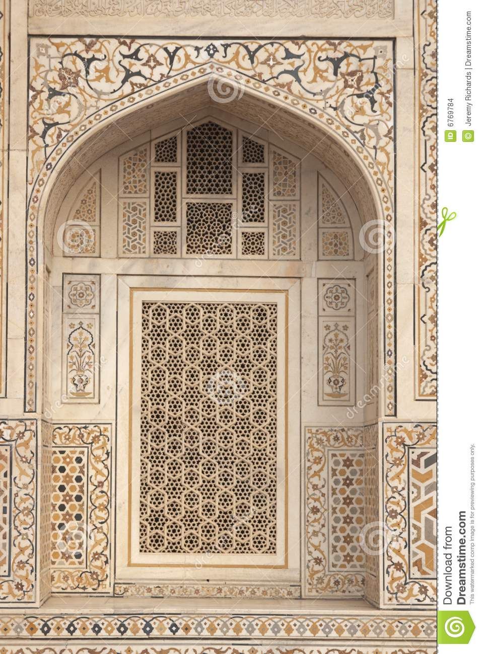 Inlaid Marble On Islamic Tomb Stock Photo Image Of Tomb
