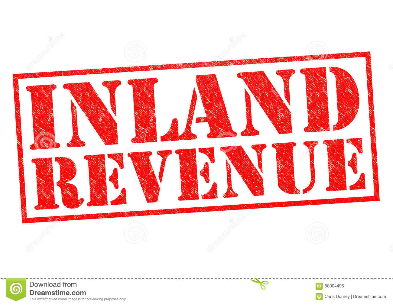 REVENUE Word On Red Background Composed From Colorful Abc